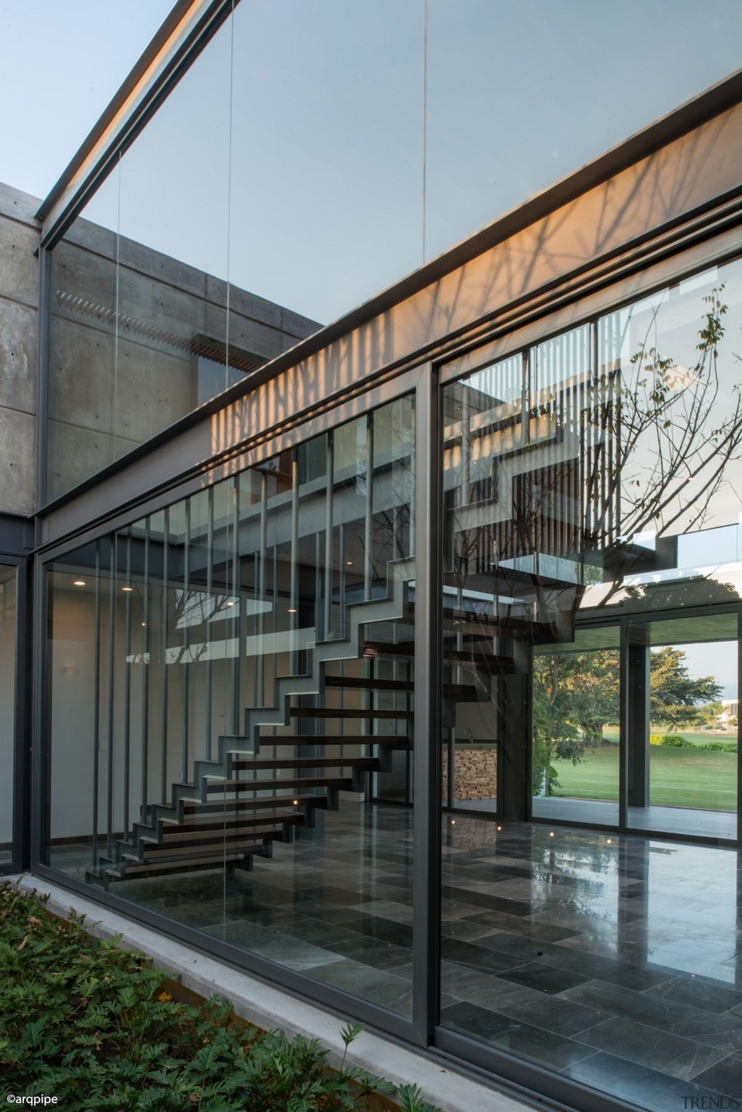 Colima home/Di Frenna Arquitectos - Colima home/Di Frenna architecture, building, condominium, facade, glass, house, gray, black