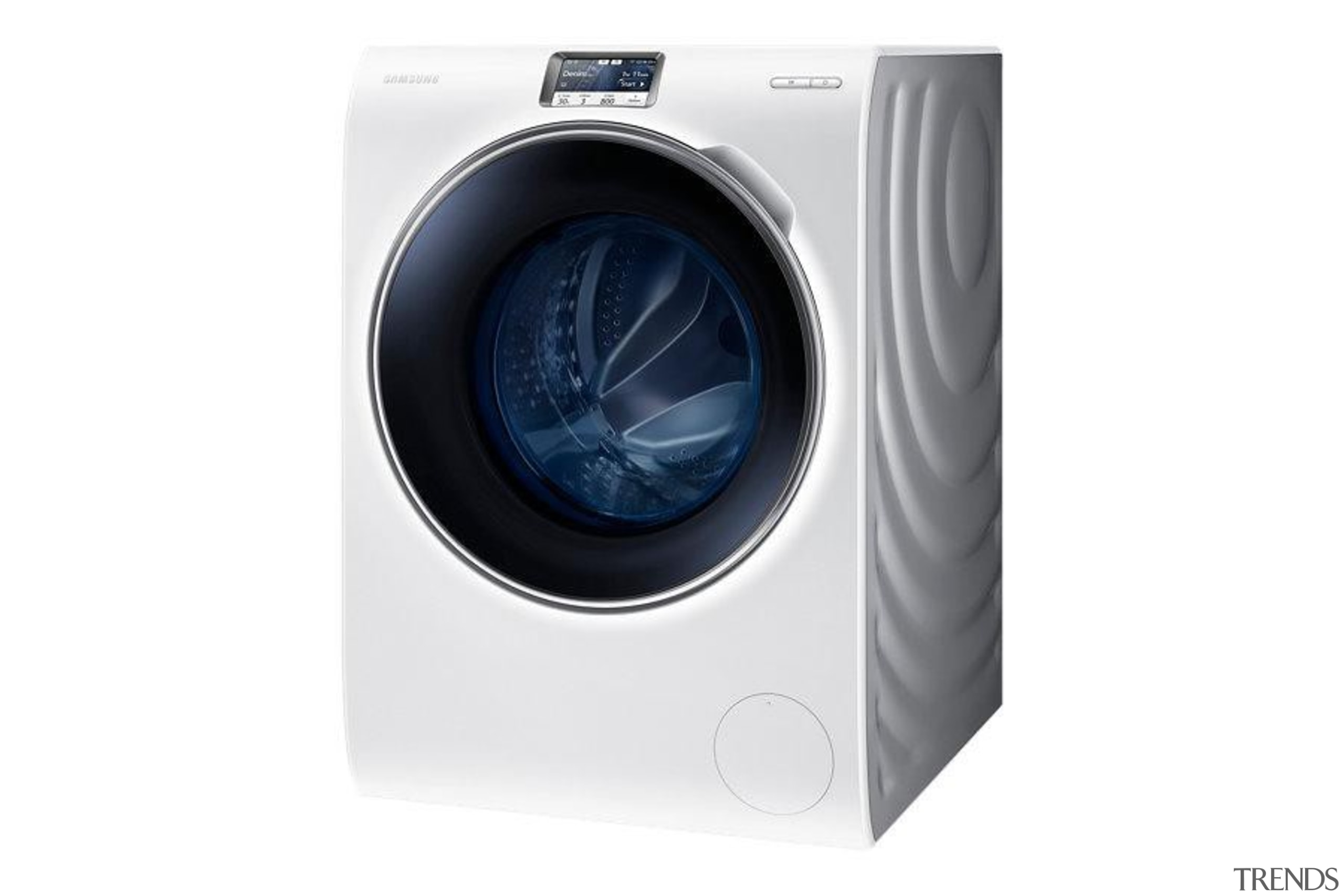 Laundry-Front loader WW90H9600EW/SAWW9000 is a washing machine with clothes dryer, home appliance, laundry, major appliance, product, product design, washing machine, white