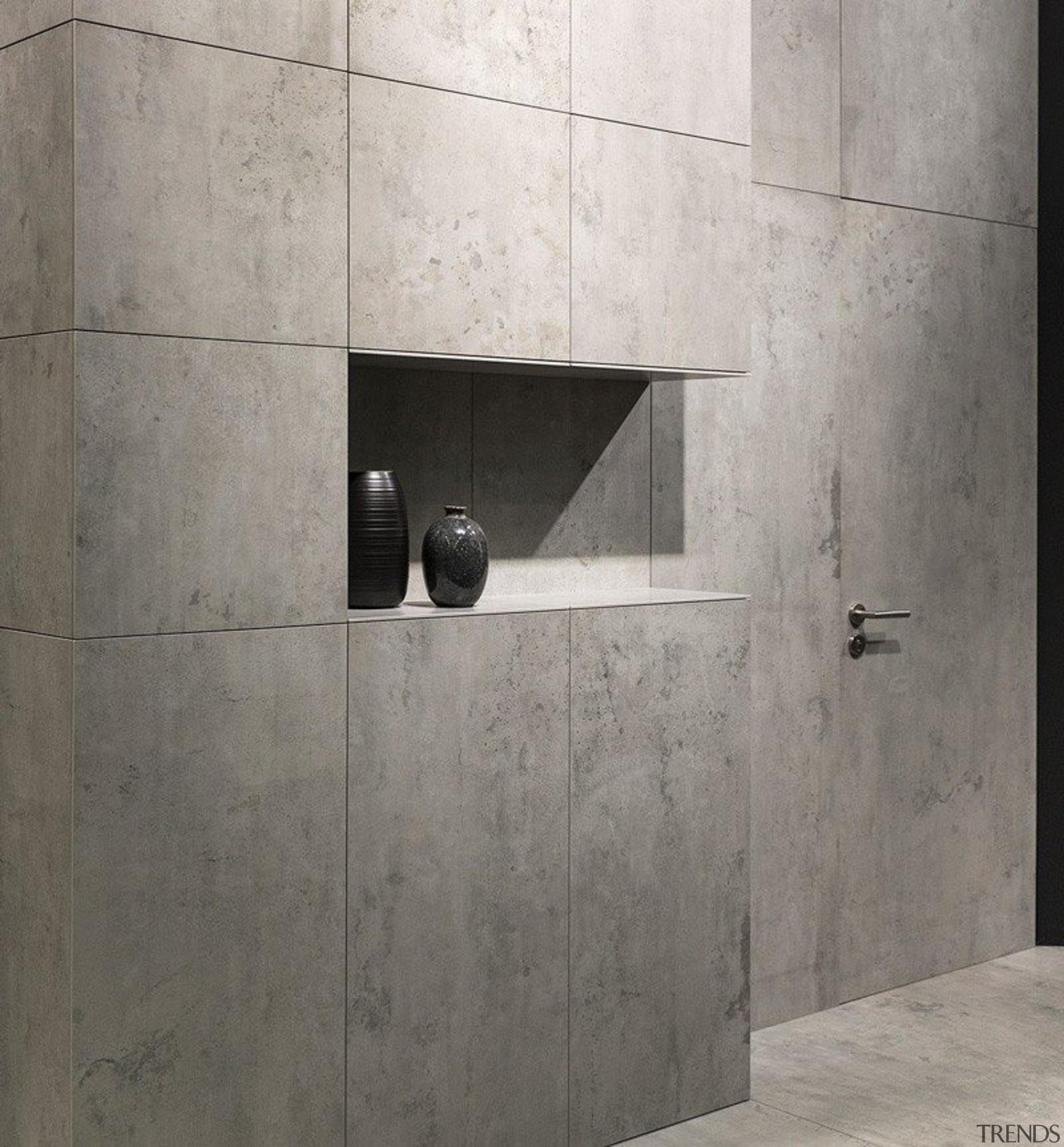 Beton - internal wall installation - Beton - architecture, concrete, floor, plumbing fixture, product design, tap, tile, wall, gray