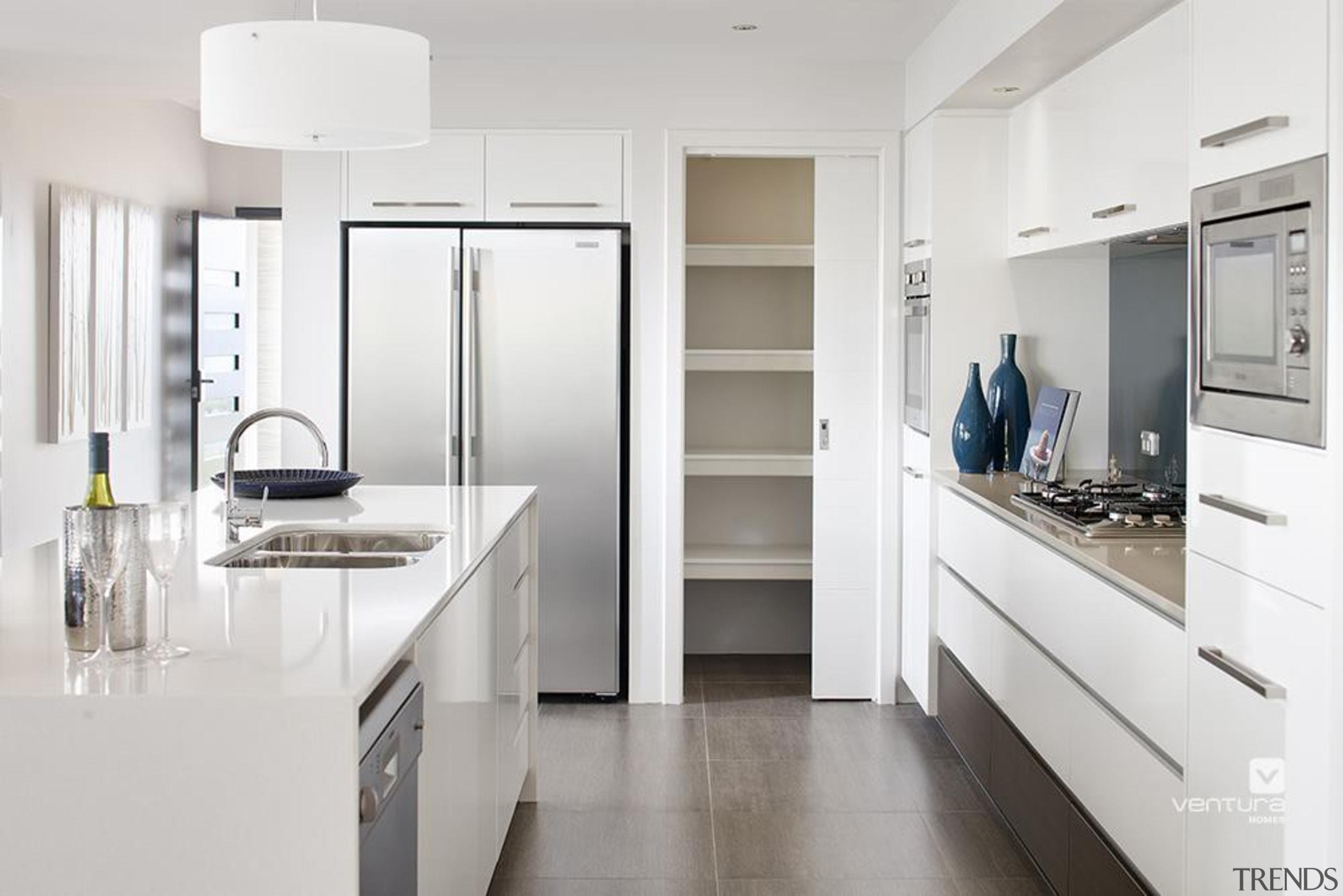 Kitchen design. - The Temptation Display Home - countertop, cuisine classique, home appliance, interior design, kitchen, major appliance, room, white