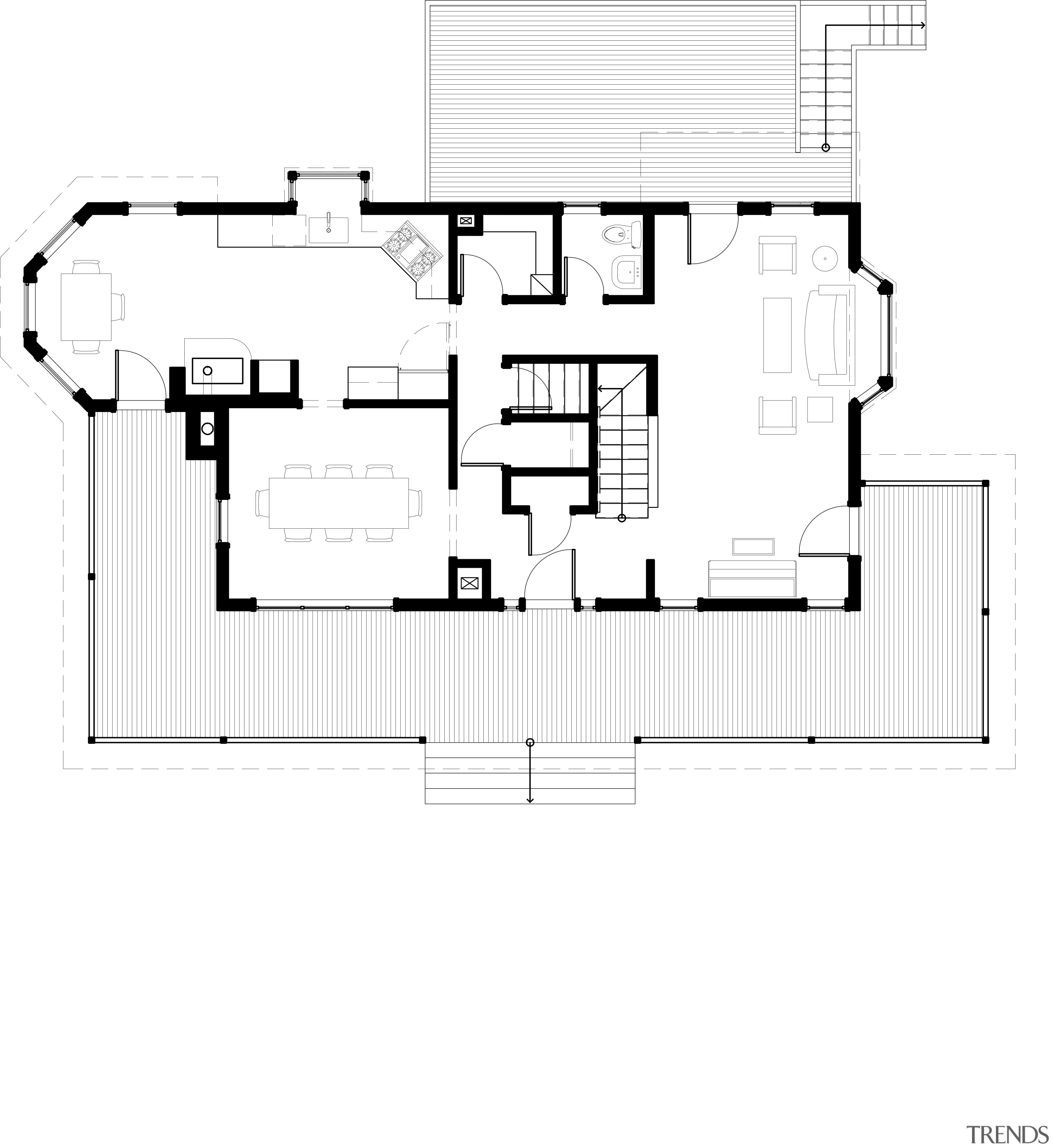 This home and kitchen was designed by Finne angle, architecture, area, design, diagram, drawing, elevation, floor plan, font, line, plan, product, product design, structure, text, white