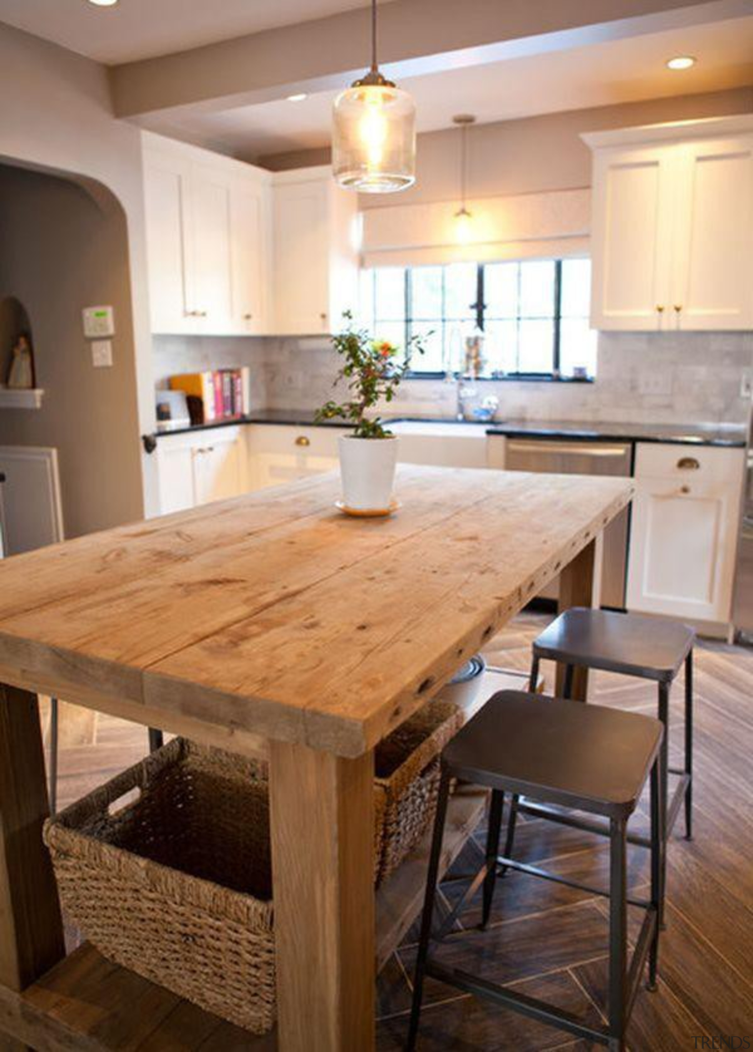 Kitchen Island Start a myTrends ProjectCreate an ideas cabinetry, countertop, cuisine classique, dining room, floor, flooring, furniture, hardwood, interior design, kitchen, laminate flooring, room, table, wood, wood flooring, wood stain, brown, gray