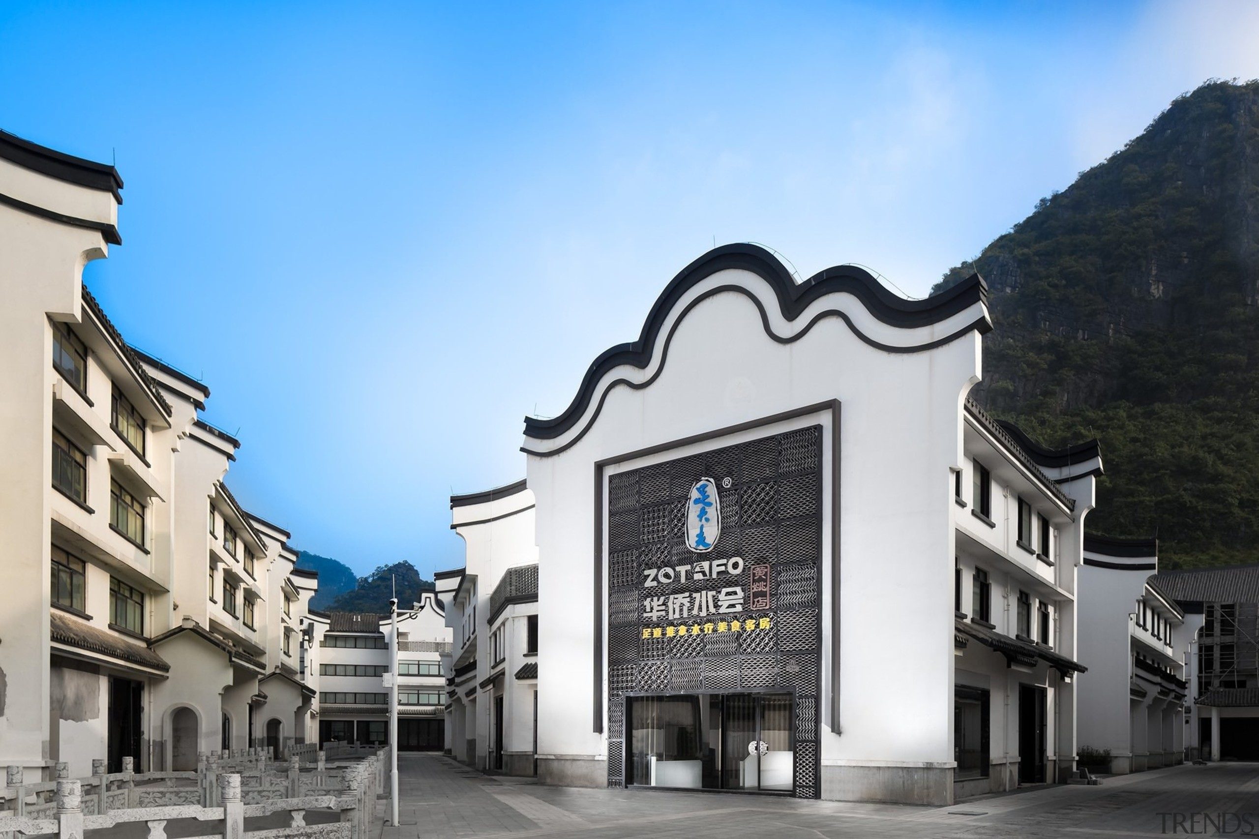 A traditional facade with contemporary elements - A architecture, building, commercial building, facade, mixed use, real estate, teal, black