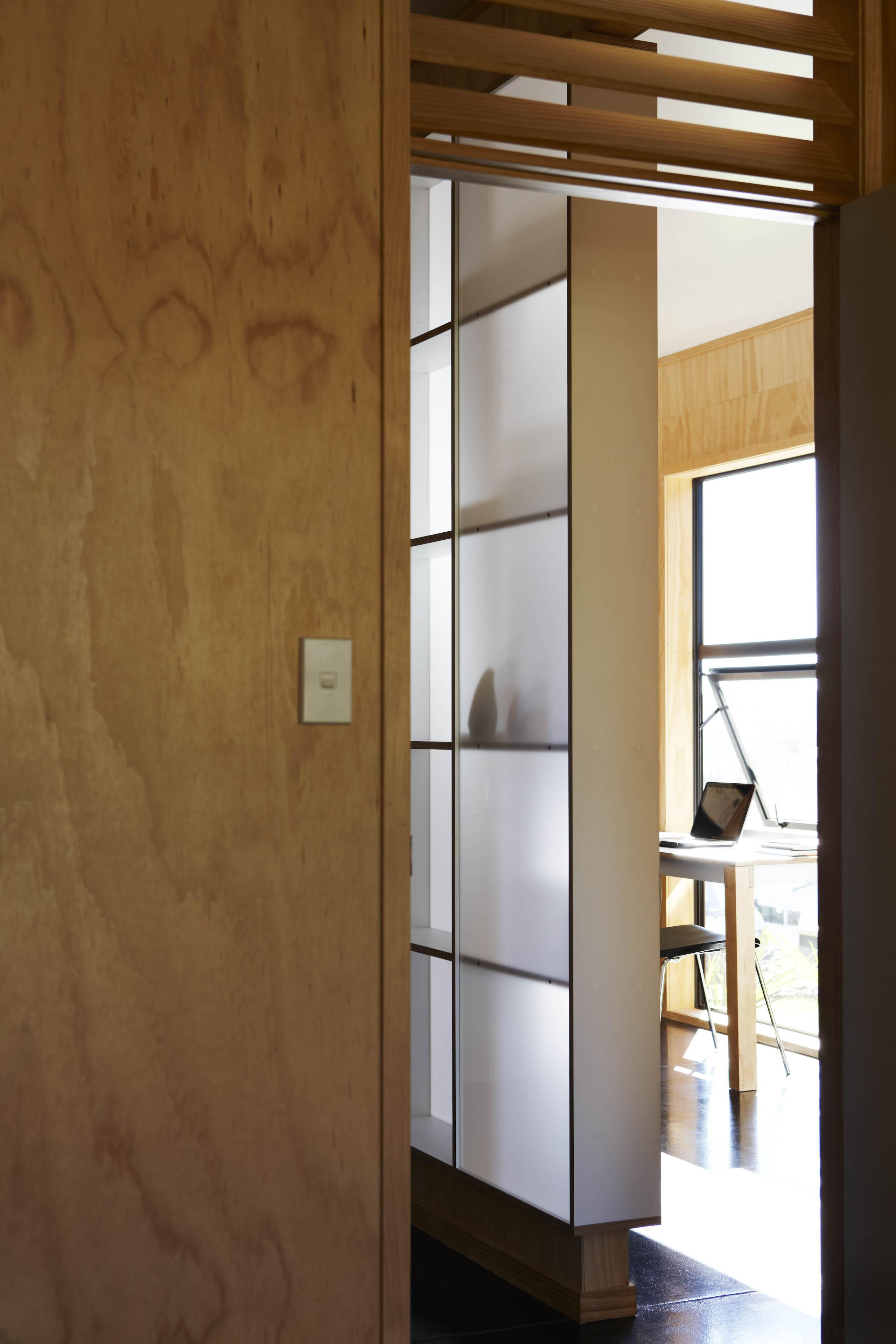 Waitakere Ranges - Studio 19 VisionWest Community Housing cabinetry, cupboard, door, furniture, shelf, shelving, wardrobe, brown