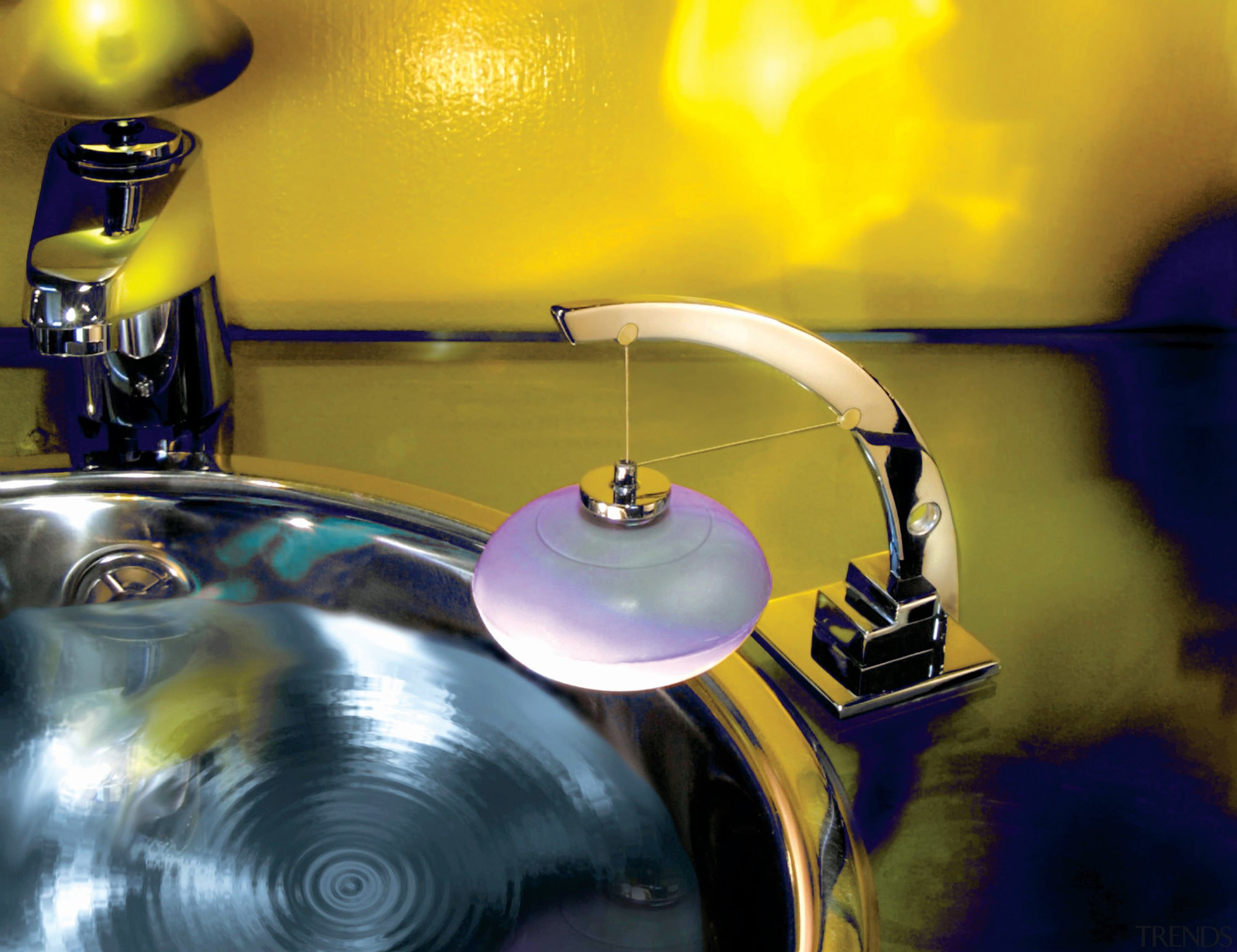 View fo the magnetic soap holder - View drum, drums, musical instrument, purple, tom tom drum, yellow, brown