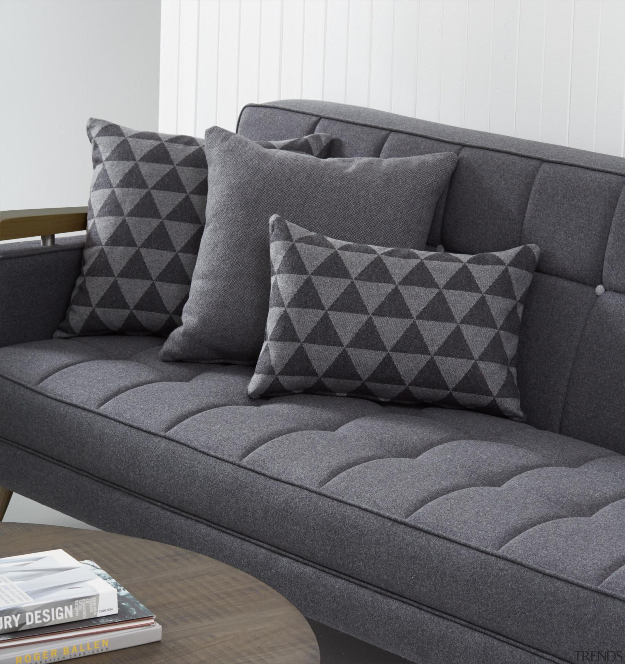 Richmond is an exciting addition to ourgrowing European angle, couch, cushion, furniture, living room, loveseat, sofa bed, studio couch, black, gray