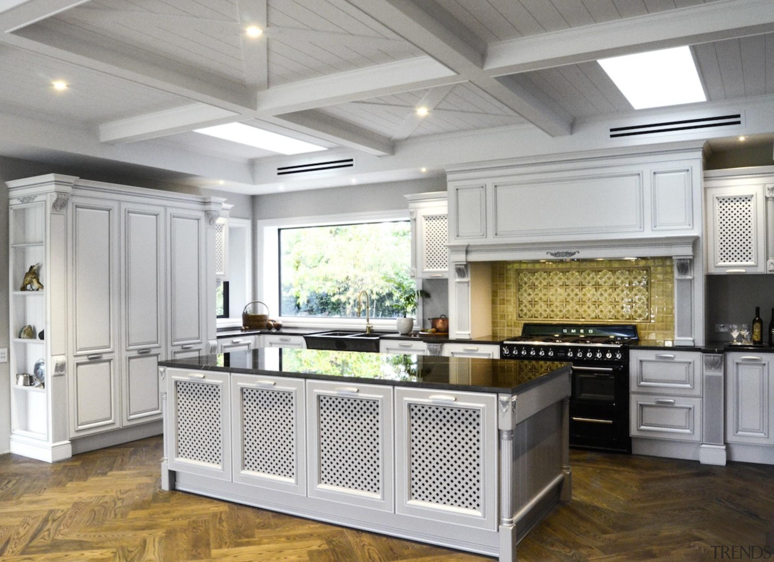 TIDA New Zealand Kitchens – proudly brought to cabinetry, countertop, cuisine classique, floor, flooring, interior design, kitchen, gray