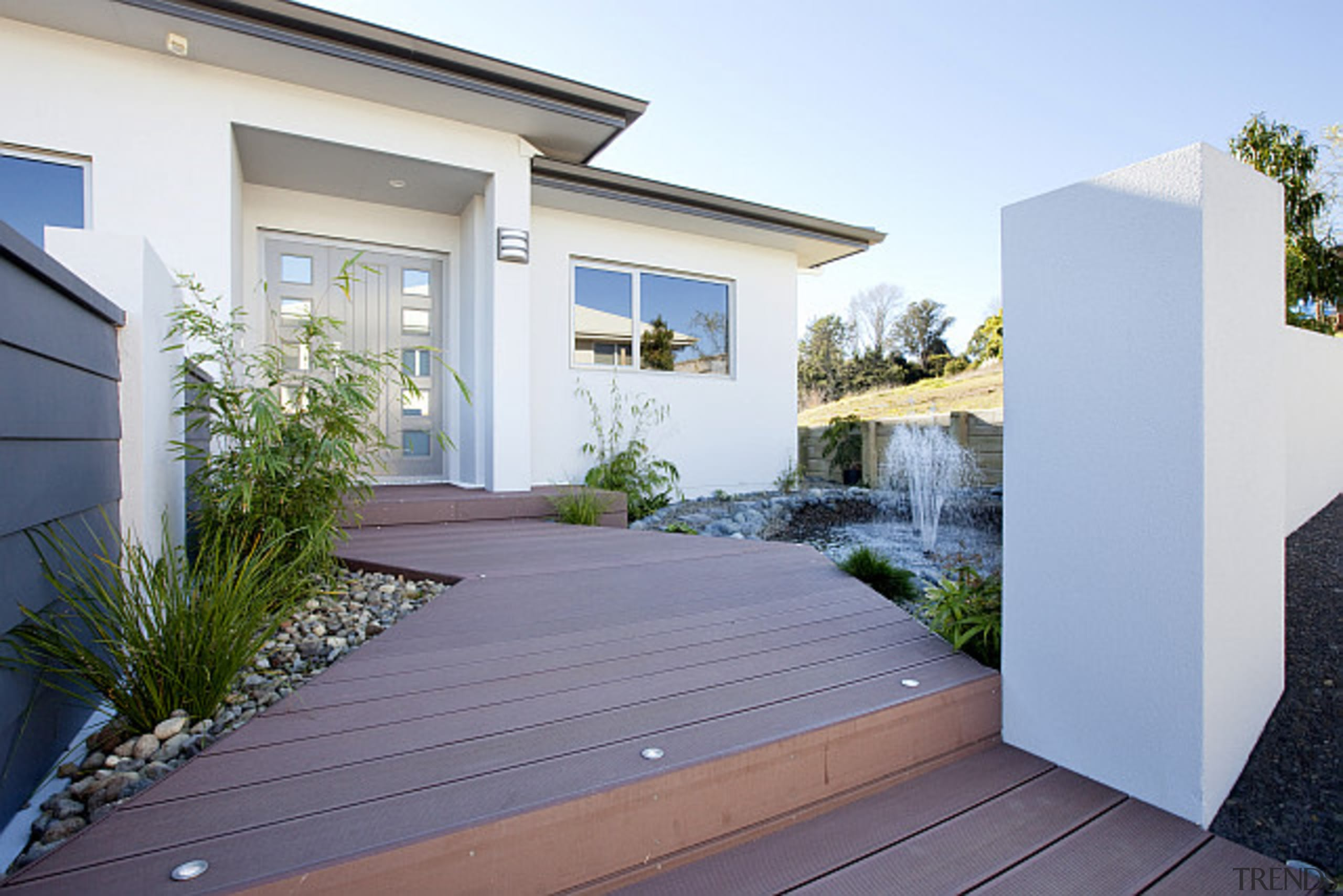 Built by Fowler Homes TaurangaFor more information, please architecture, backyard, courtyard, estate, facade, home, house, property, real estate, residential area, yard, white