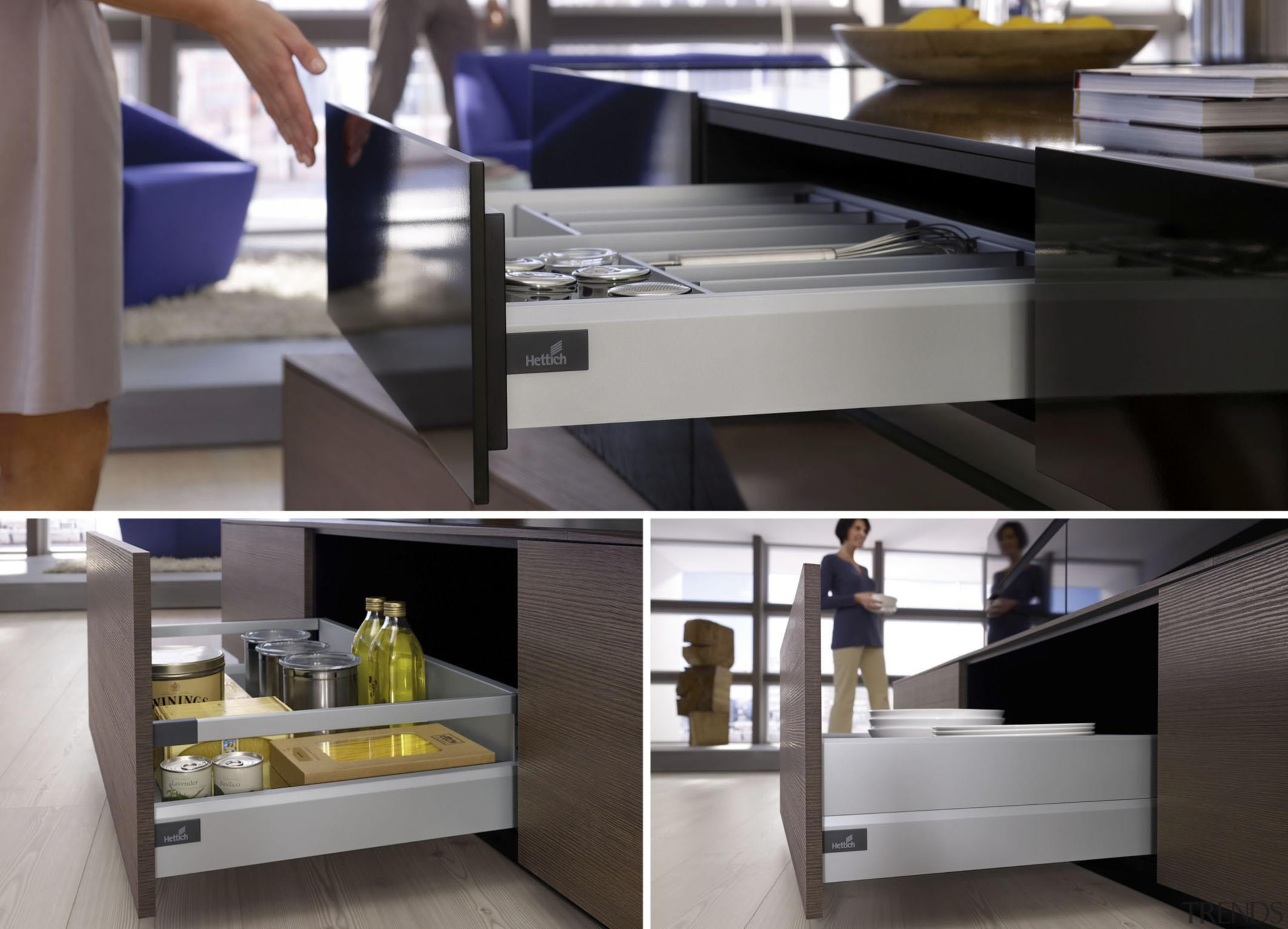 One side profile, endless options: The ArciTech platform countertop, display case, furniture, interior design, kitchen, product design, table, gray, black