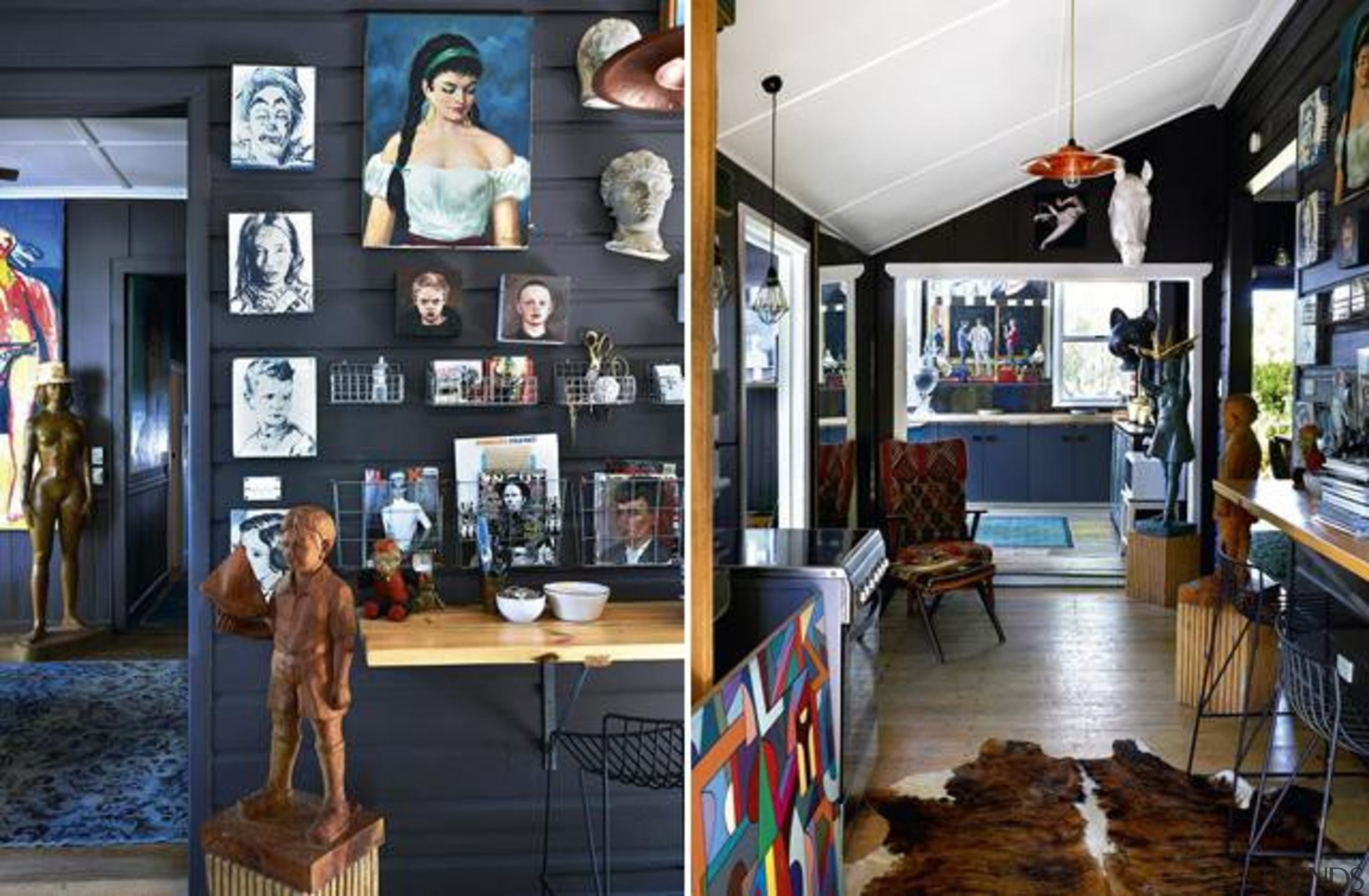 Just by glancing at this Byron Bay home, interior design, black