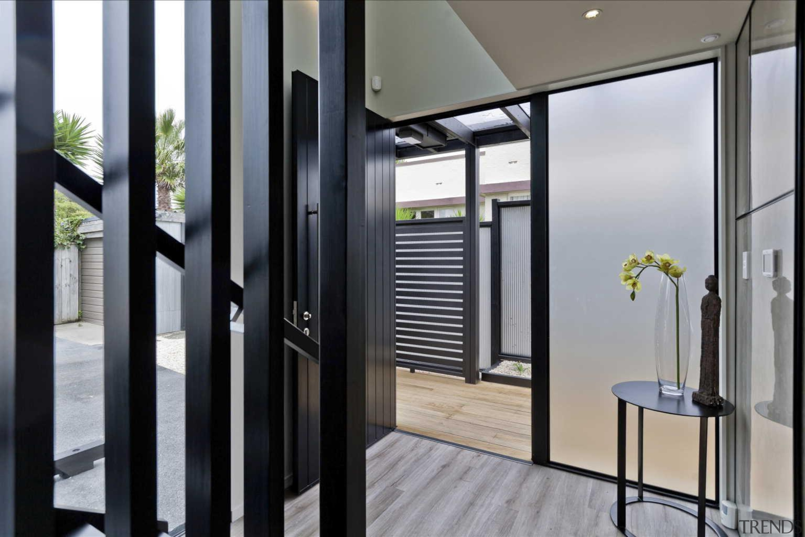 Foyer and main entrance door - Entrance Door door, interior design, window, gray, black