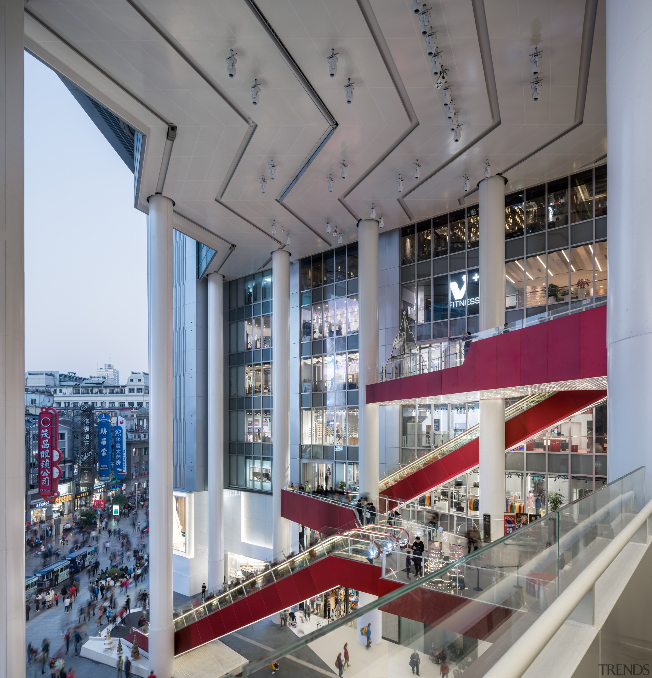 View from the fourth floor balcony of Shimao architecture, building, ceiling, commercial building, daylighting, interior design, mixed-use, real estate, window, gray