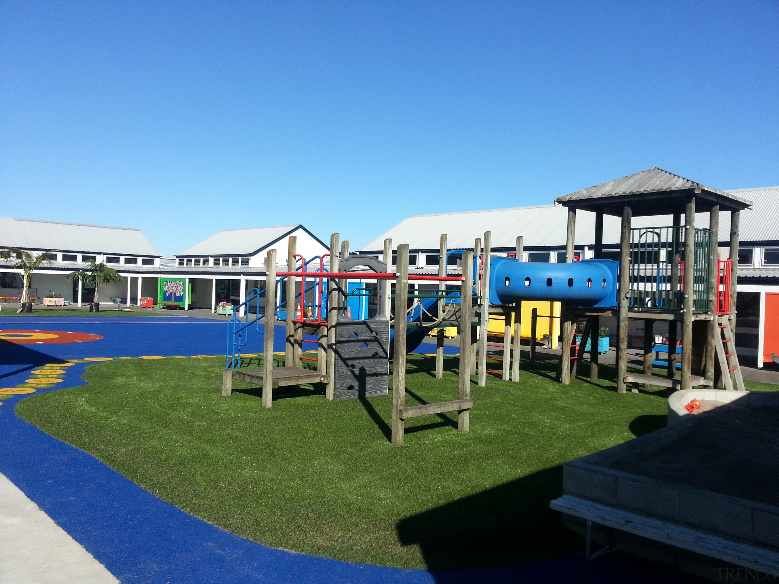 Pre-school, primary & seconday education - Pre-school, primary city, leisure, outdoor play equipment, playground, public space, recreation, teal