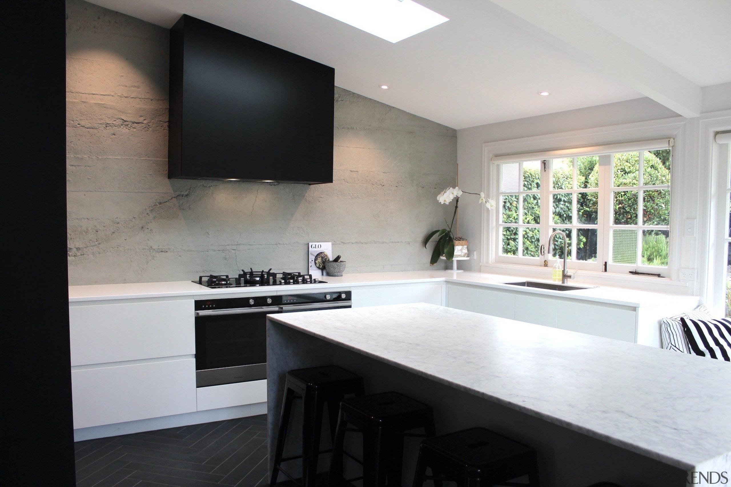 Evelyn McNamara Architects – TIDA New Zealand architecture, countertop, interior design, kitchen, real estate, room, window, gray, black, white