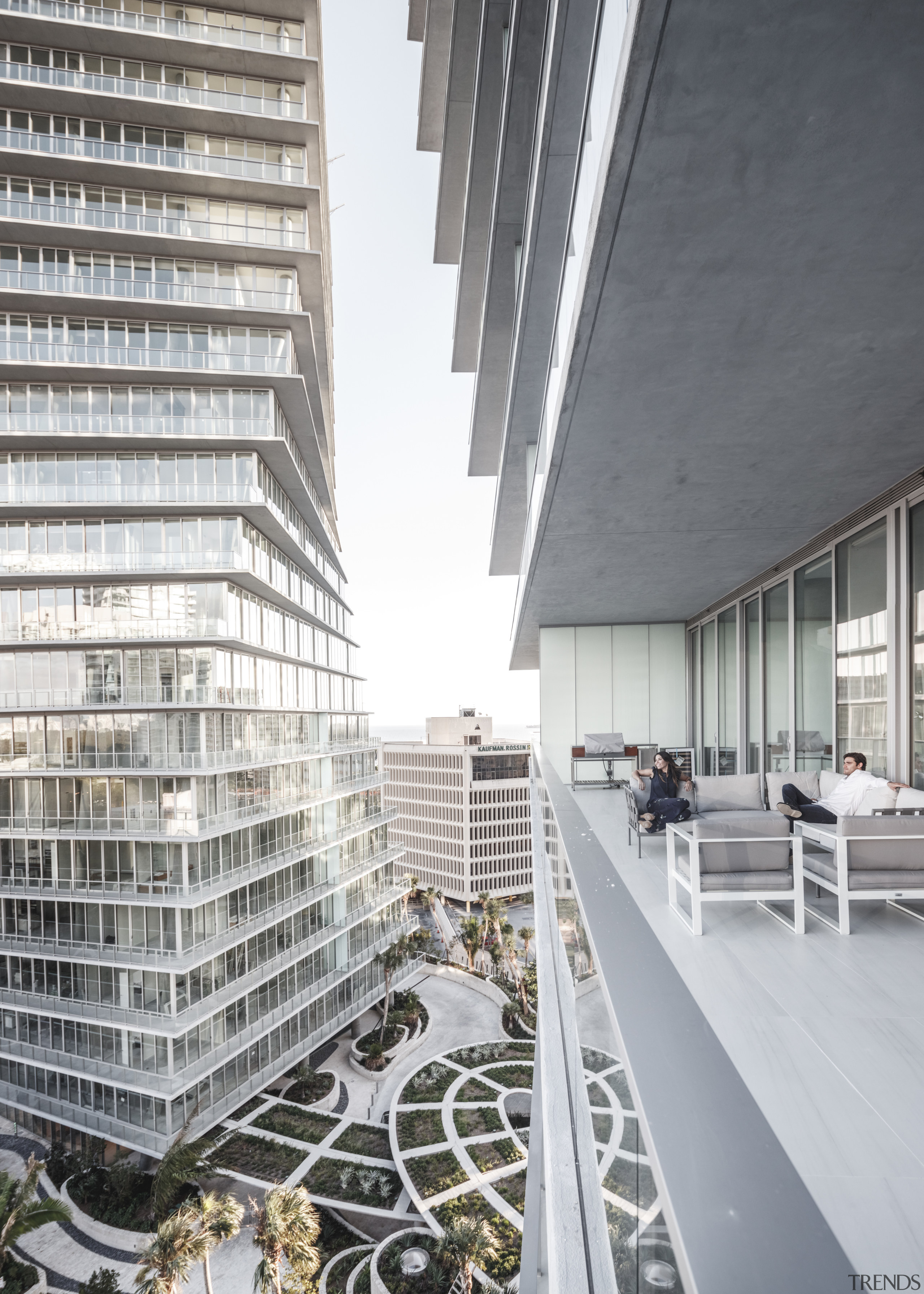 The twisting nature of the towers at Grove apartment, architecture, building, condominium, corporate headquarters, daylighting, facade, headquarters, mixed use, skyscraper, white, gray