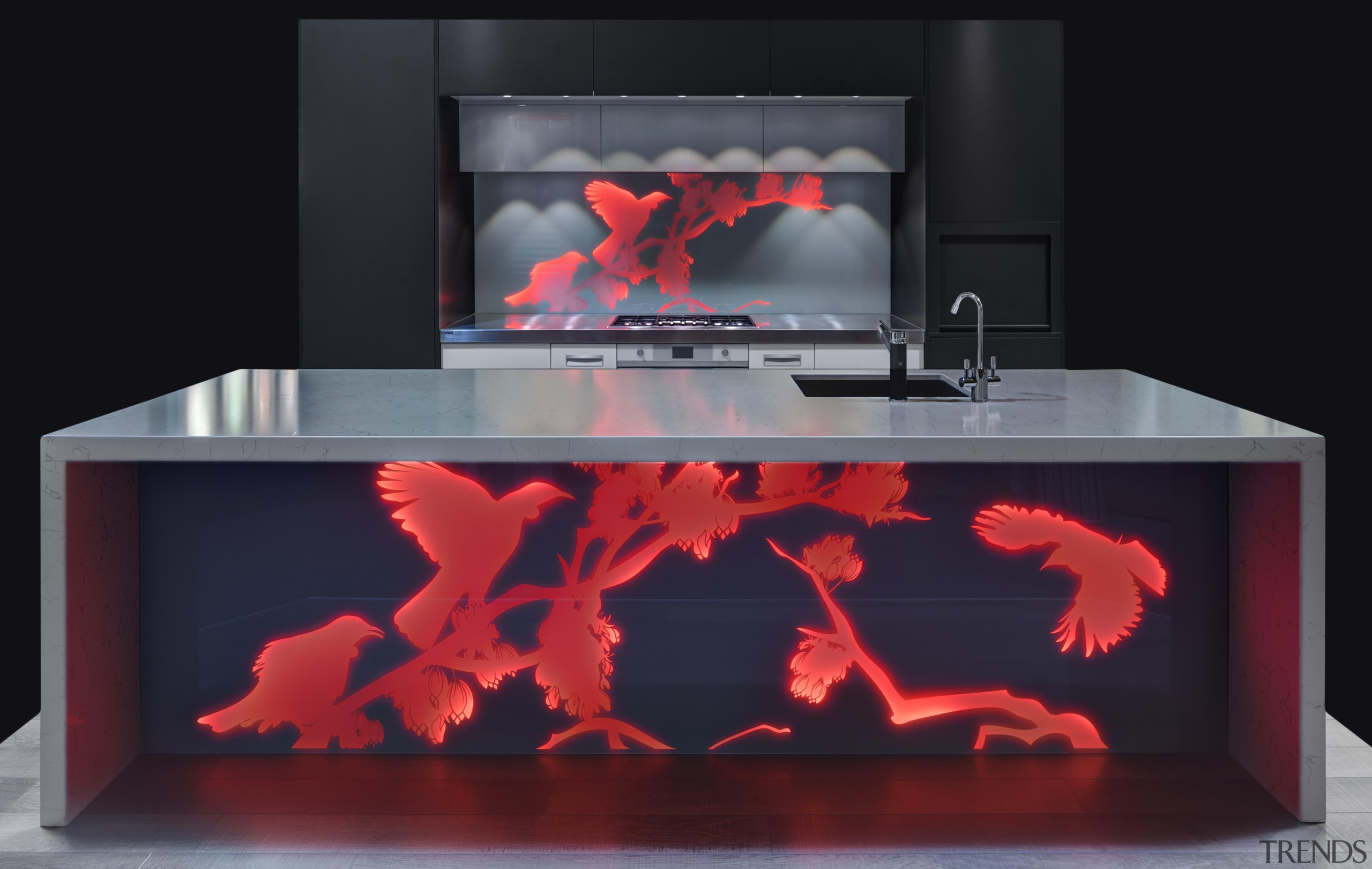 Every kitchen needs a hero and a vibrant fireplace, hearth, heat, product design, black