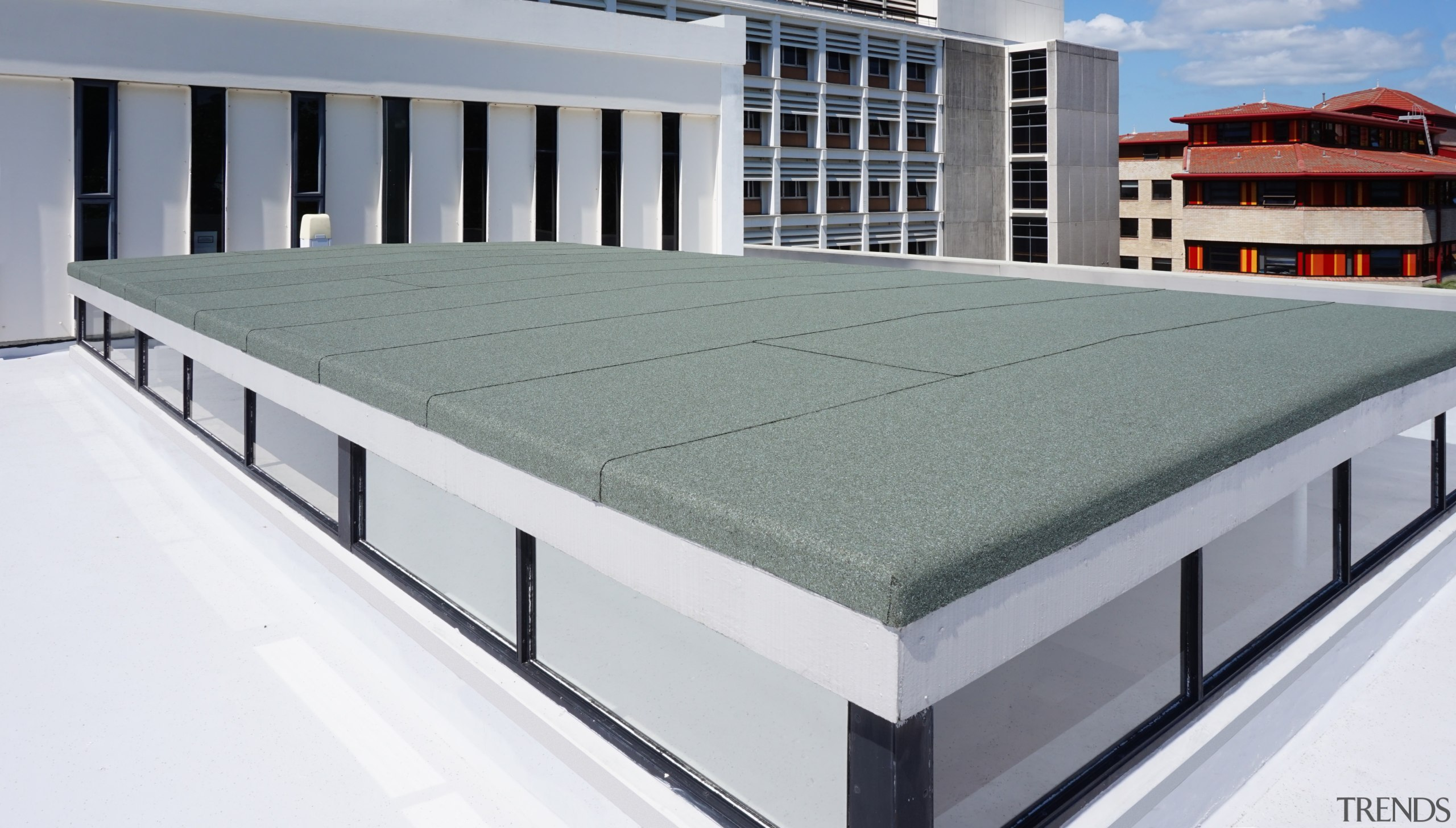 Only available in New Zealand from Neuchatel, SafeStick architecture, daylighting, furniture, product, product design, roof, structure, gray, white
