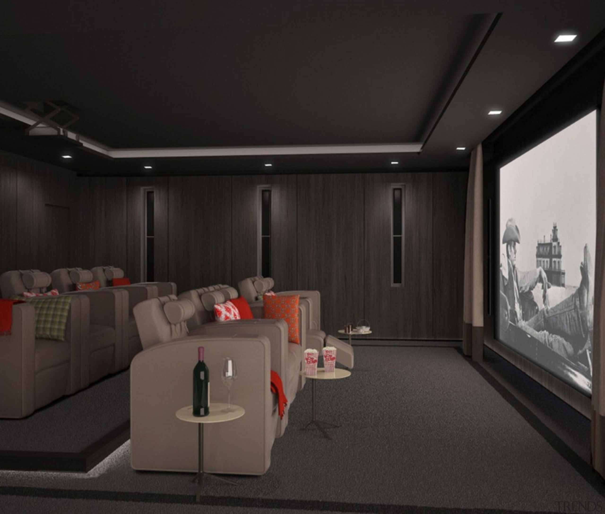 This new development The Chilterns is situated in ceiling, interior design, room, black