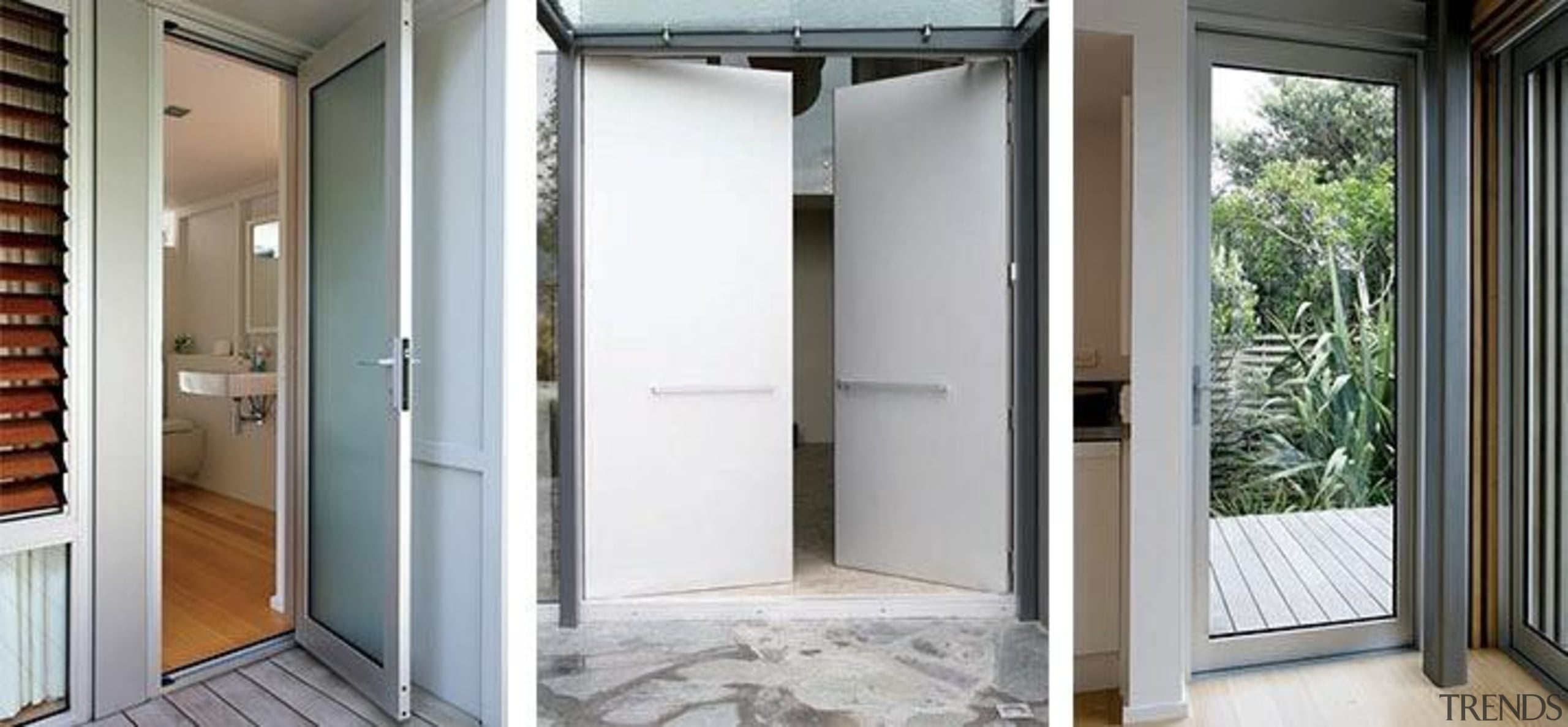 Our hinged doors have square-edge stiles and wide door, home, property, real estate, window, white, gray