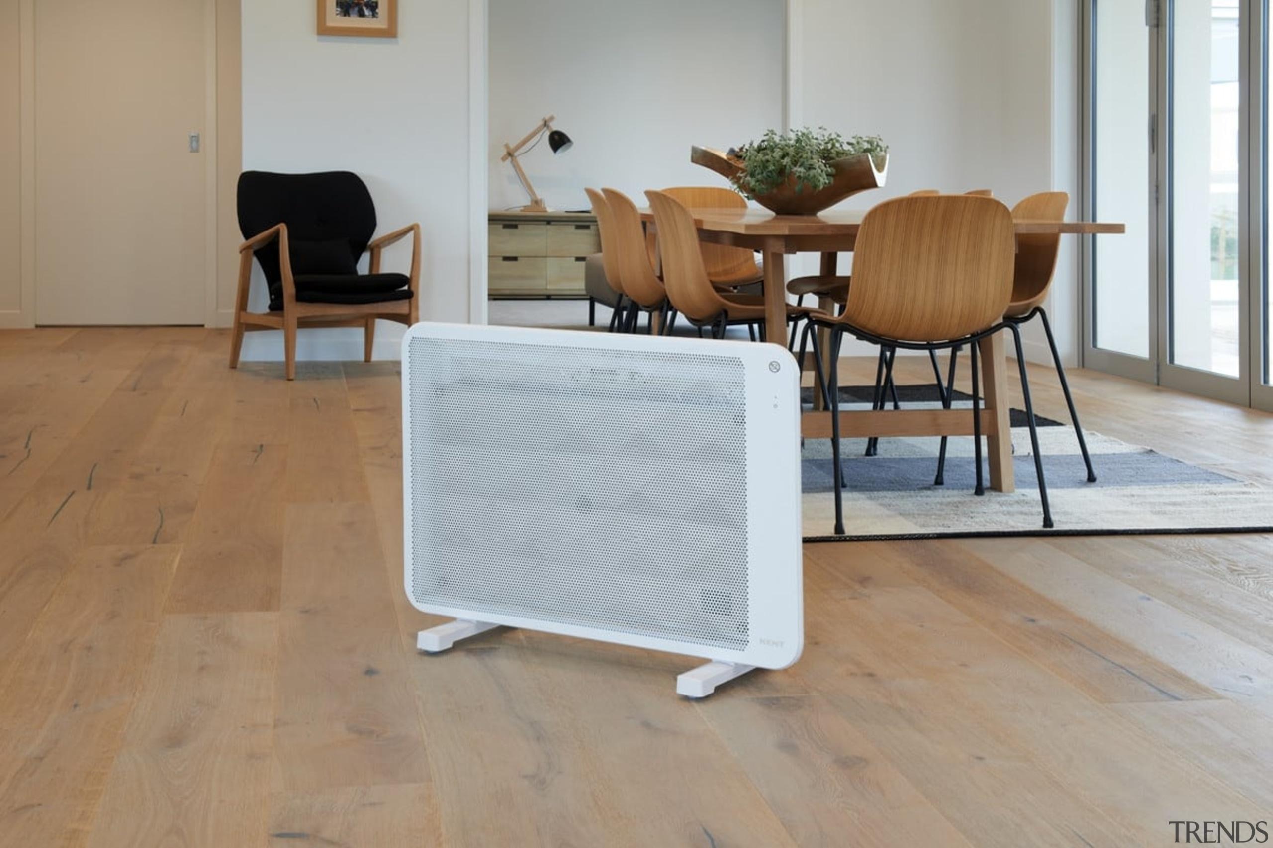Kent Portable Heating - chair | floor | chair, floor, flooring, furniture, hardwood, laminate flooring, living room, product, table, tile, wood, wood flooring, wood stain, gray, brown