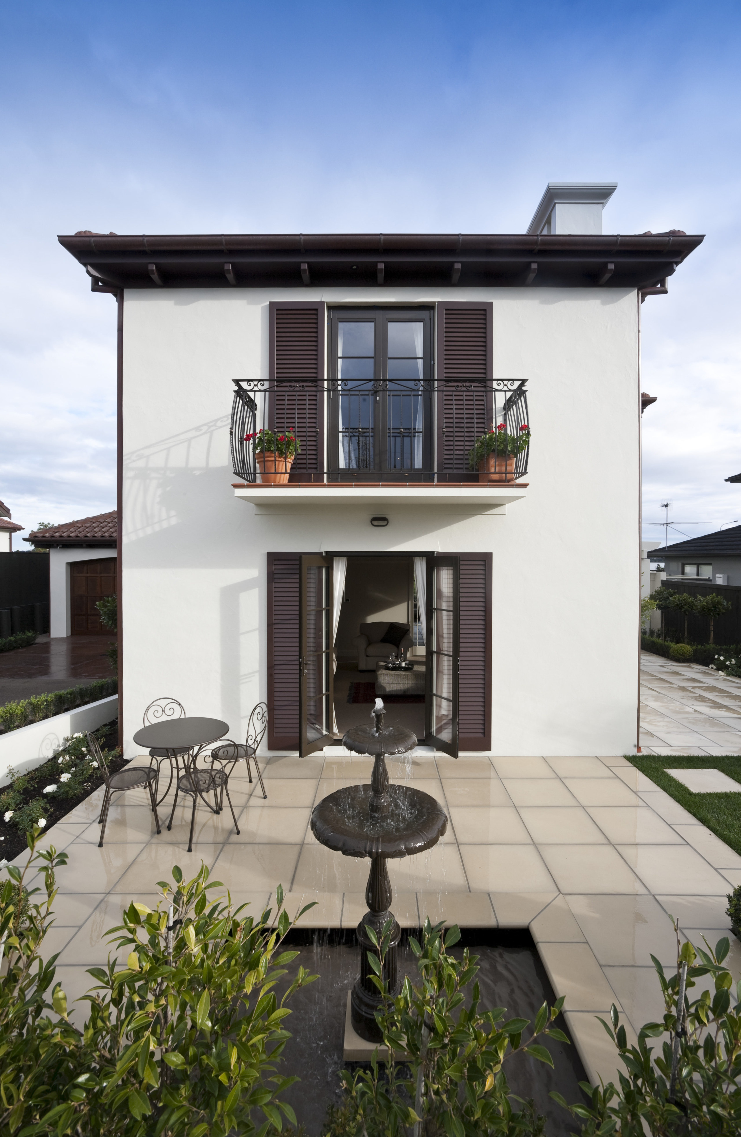 Exterior view of Eden Homes show home which architecture, building, facade, home, house, real estate, residential area, gray