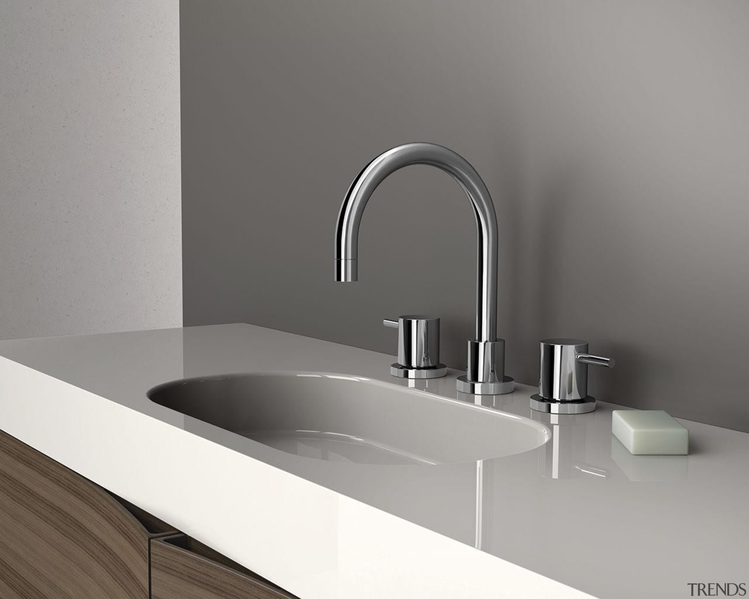 Vivid Pin Lever is an ideal tap ware angle, bathroom, bathroom sink, plumbing fixture, product design, sink, tap, gray