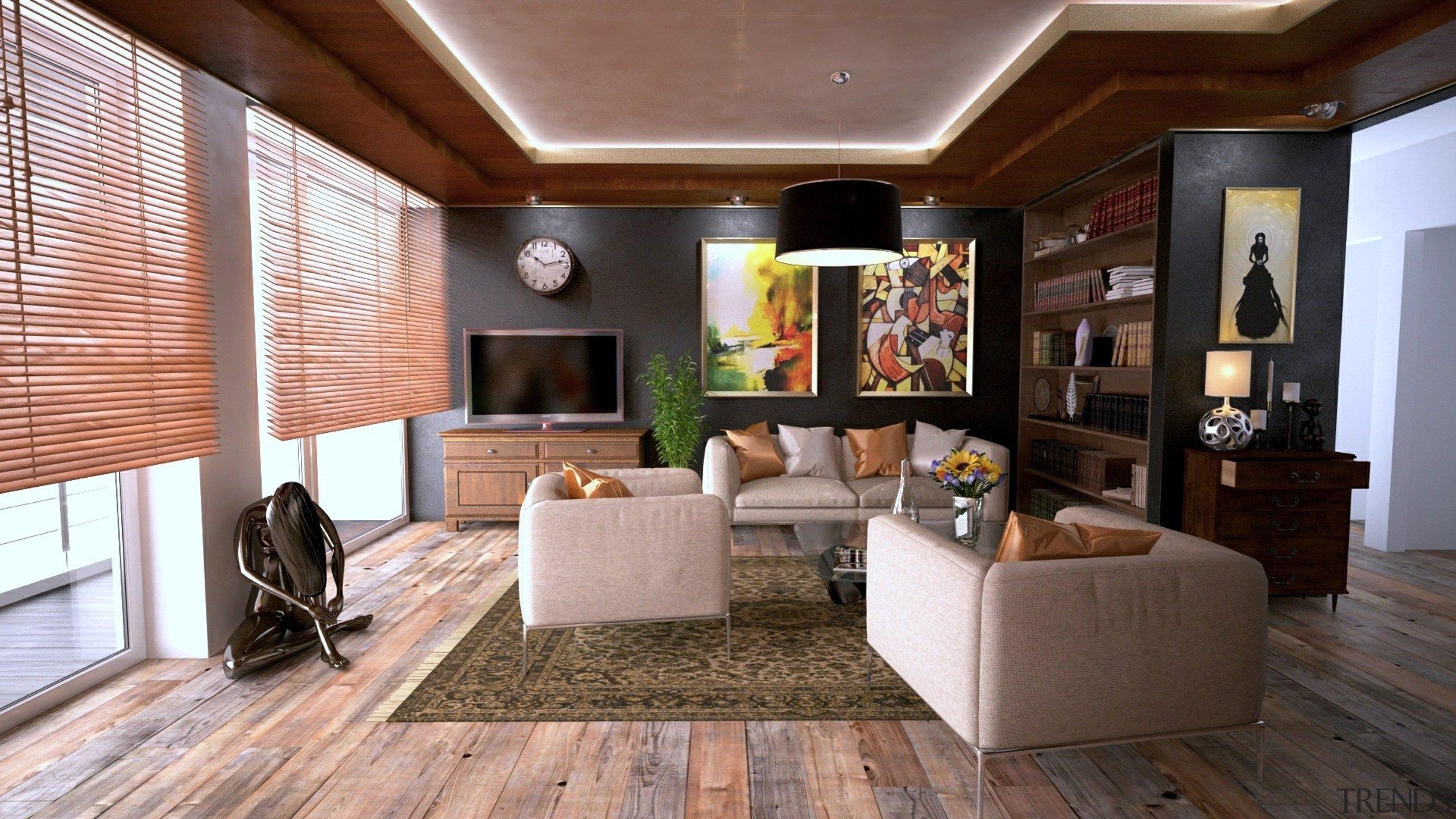 Barefoot On Wood Laminate Feels Like Pure Luxury ceiling, floor, flooring, hardwood, interior design, living room, real estate, room, gray