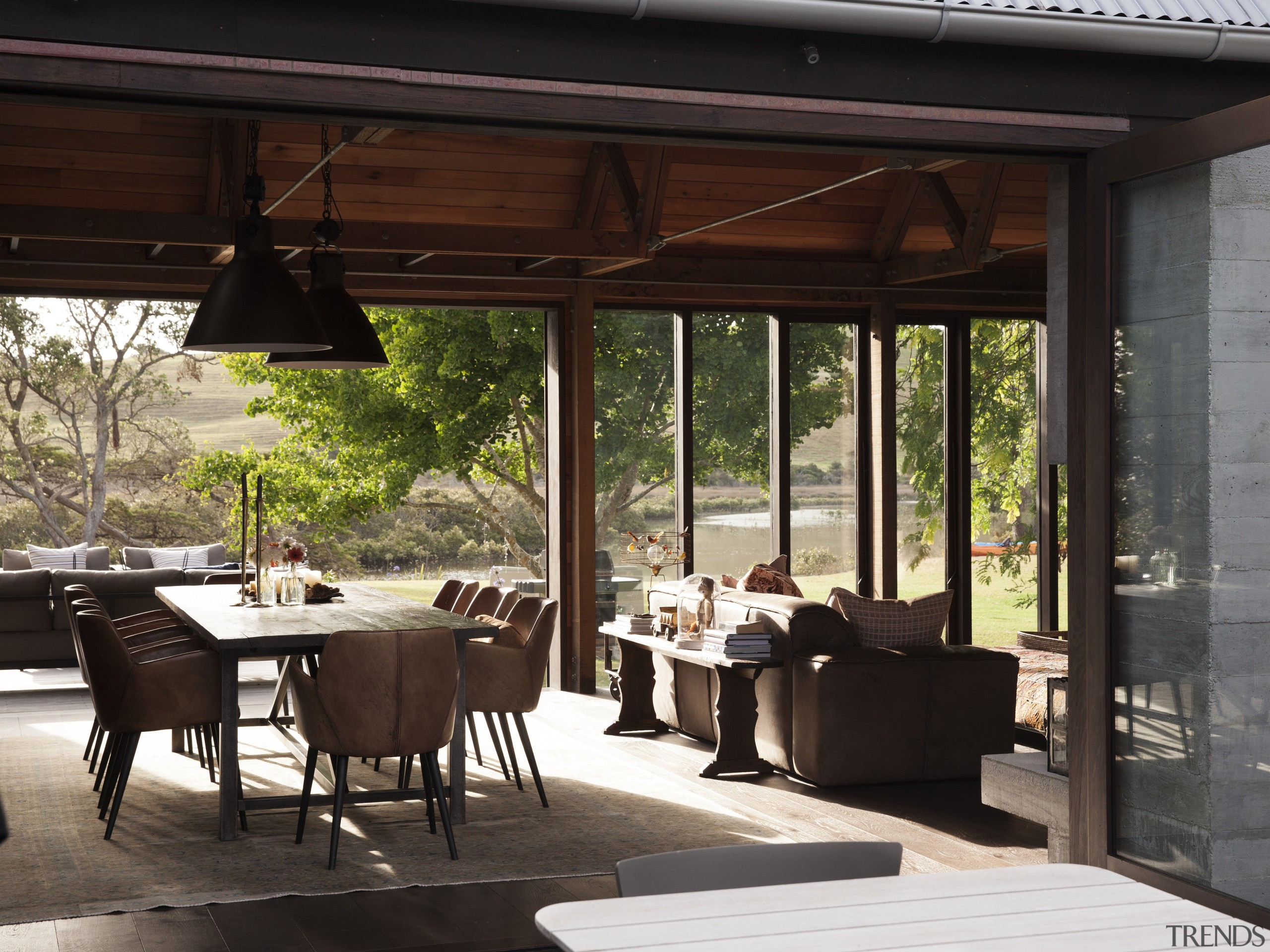 Various wood species and architectural construction elements feature house, interior design, outdoor structure, window, black