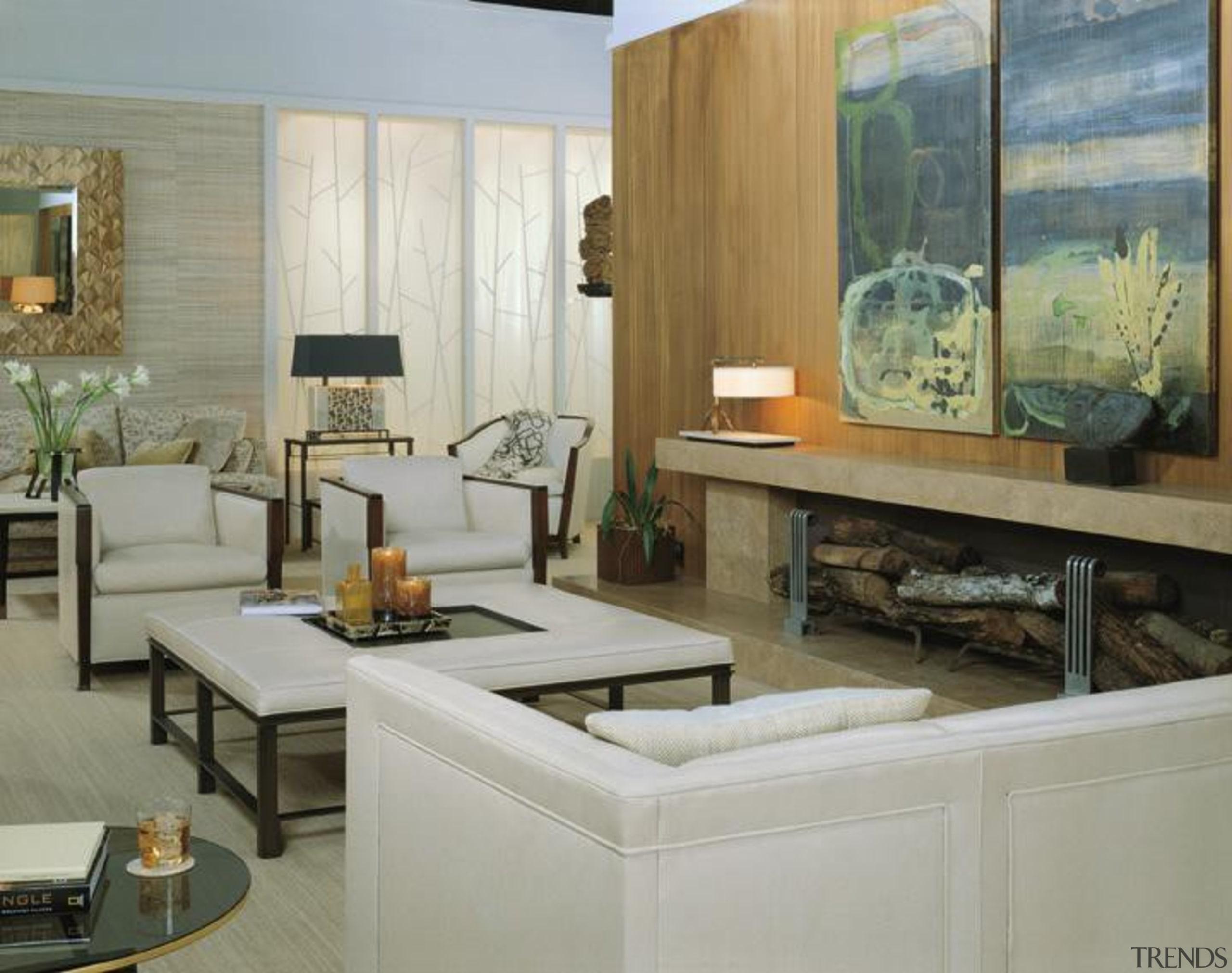 The work of William Sofield is defined not floor, flooring, furniture, interior design, living room, room, gray