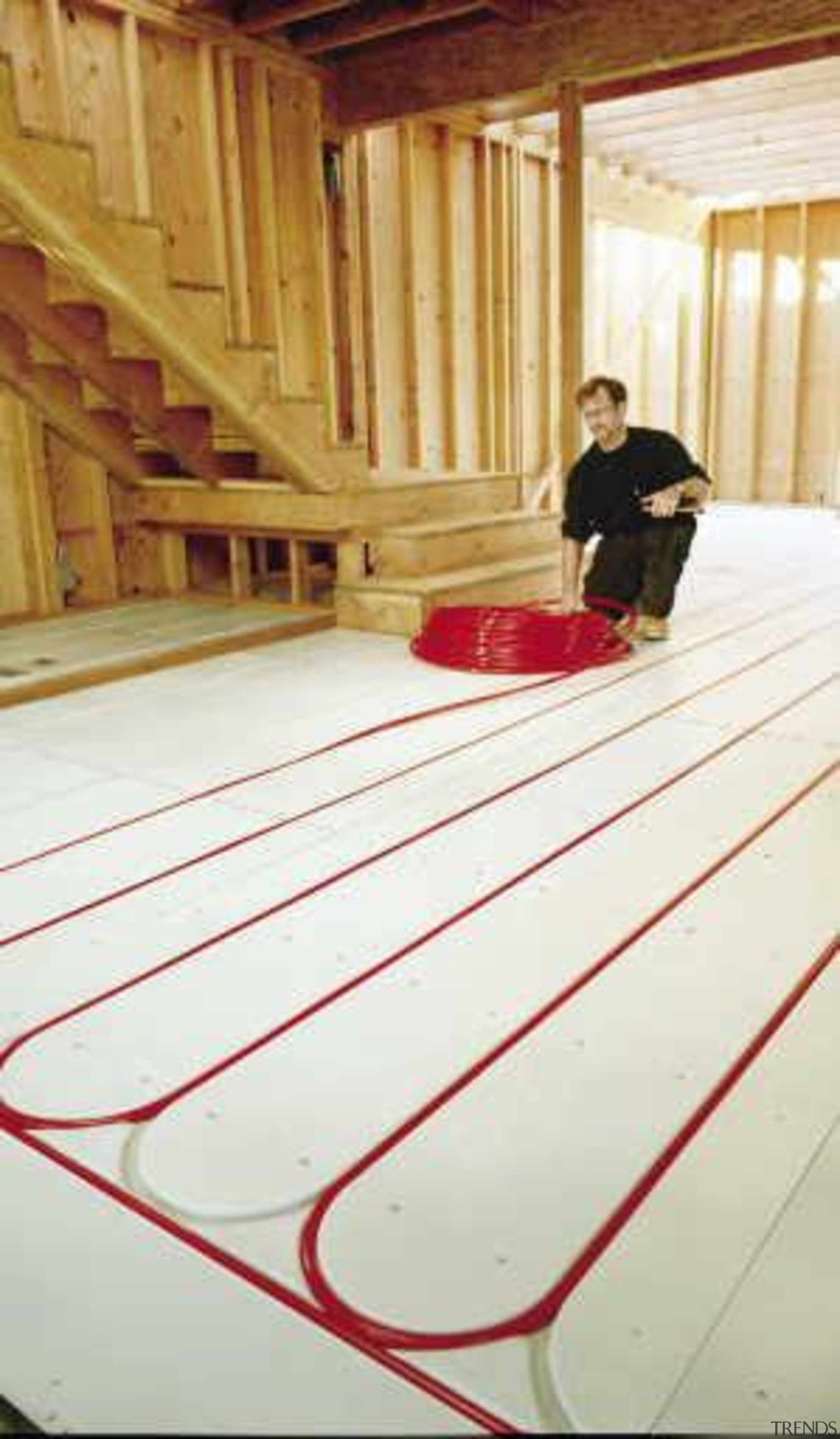 This home looks the part in a winter floor, flooring, furniture, hardwood, line, plywood, room, table, wood, wood flooring, white