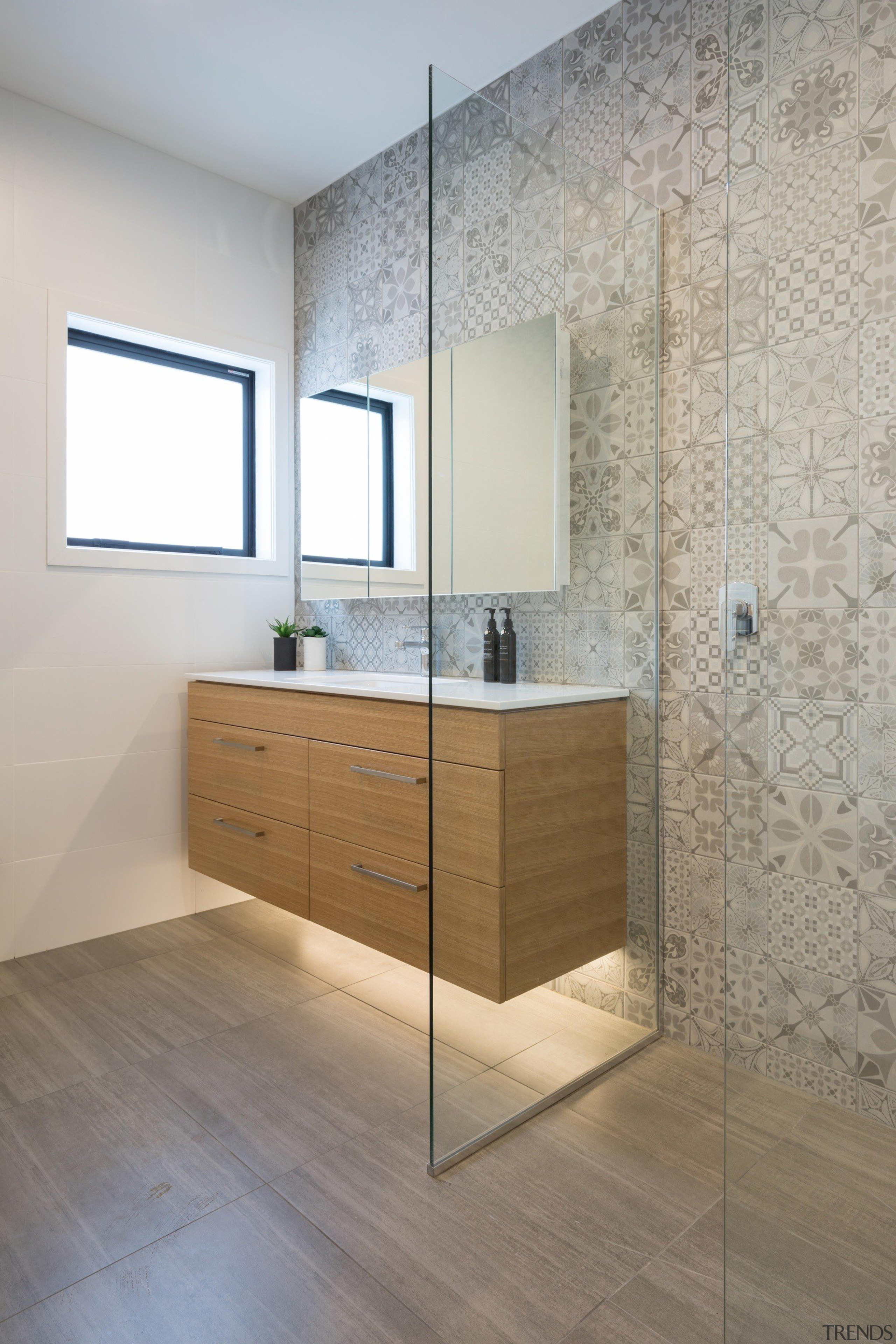 See more from Nicola Manning Design bathroom, bathroom accessory, bathroom cabinet, floor, flooring, interior design, laminate flooring, product design, room, sink, tile, wall, wood flooring, gray