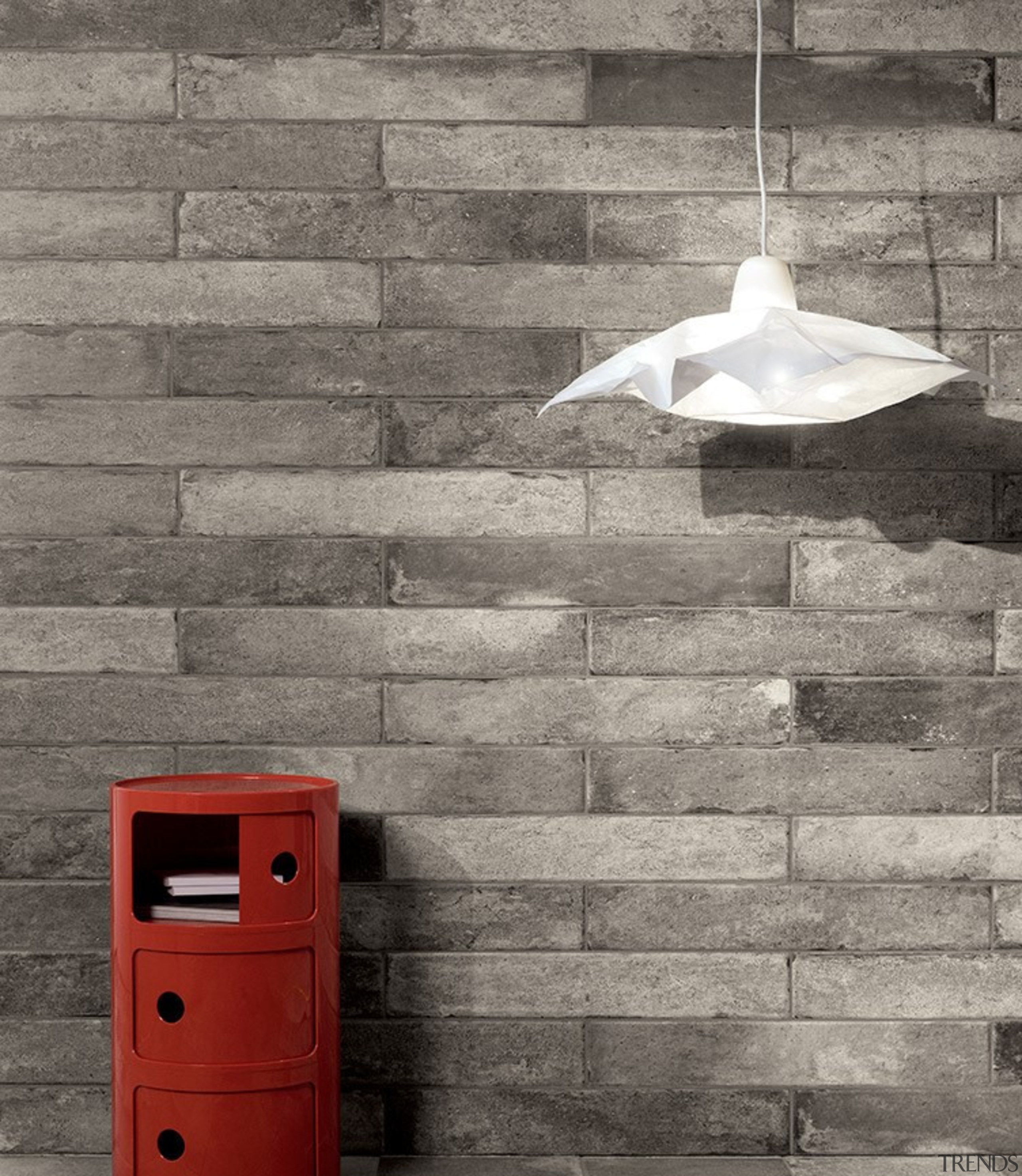 Bricklane is available in 101x614mm at The Tile black and white, brick, wall, gray