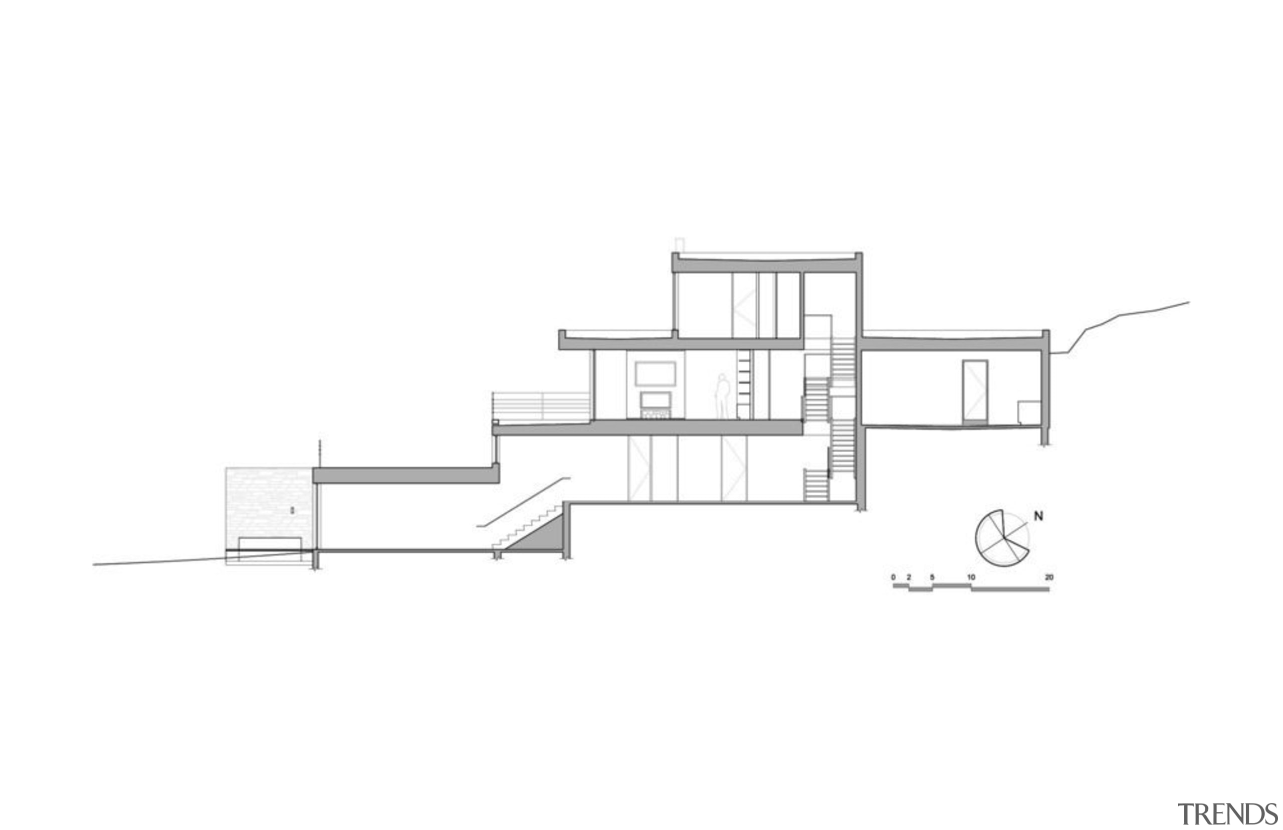 Estrade Residence – cross section - Estrade Residence angle, architecture, area, design, diagram, drawing, elevation, facade, floor plan, font, home, house, line, plan, product, product design, structure, white