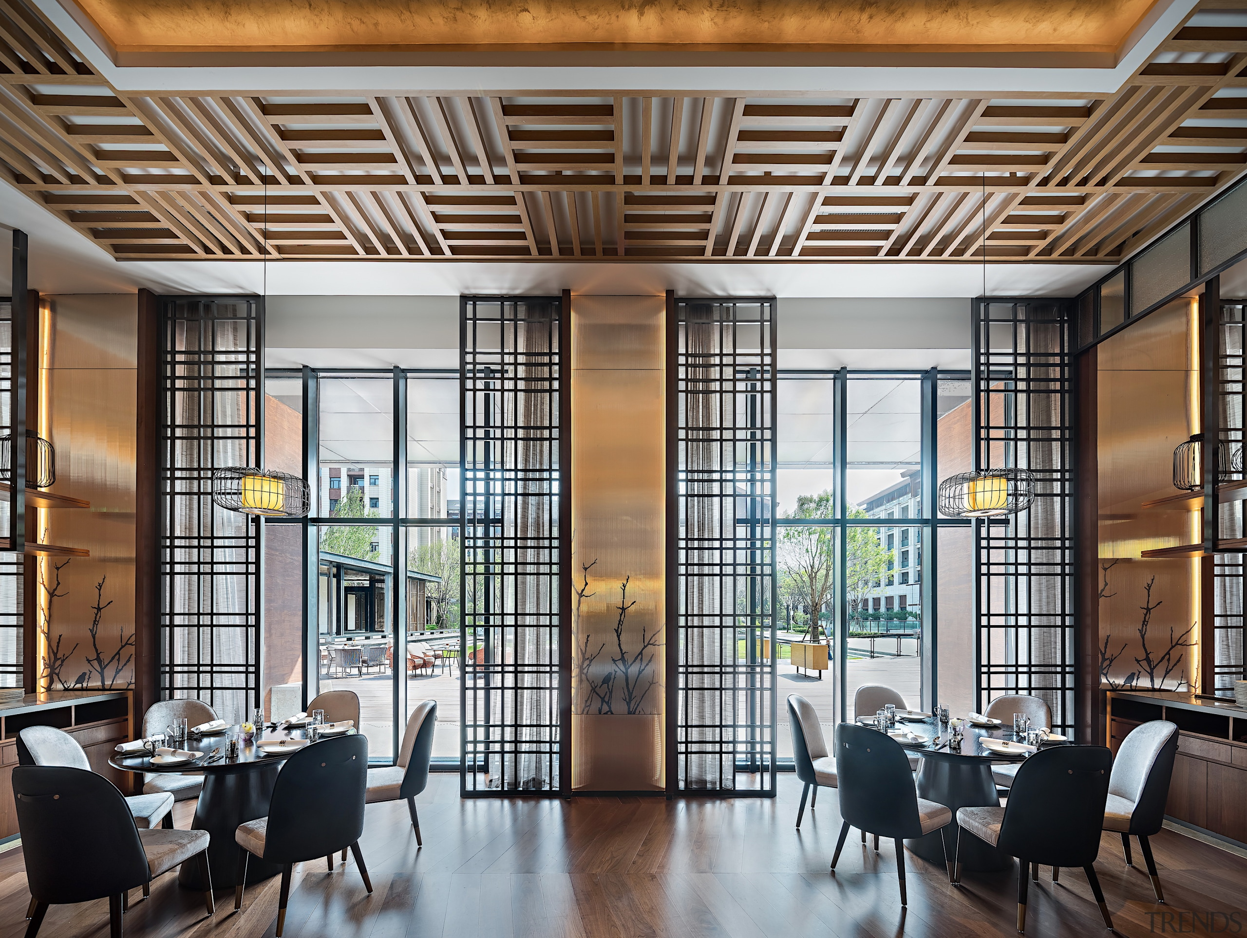 The Chinese Restaurant at the Hyatt is inspired