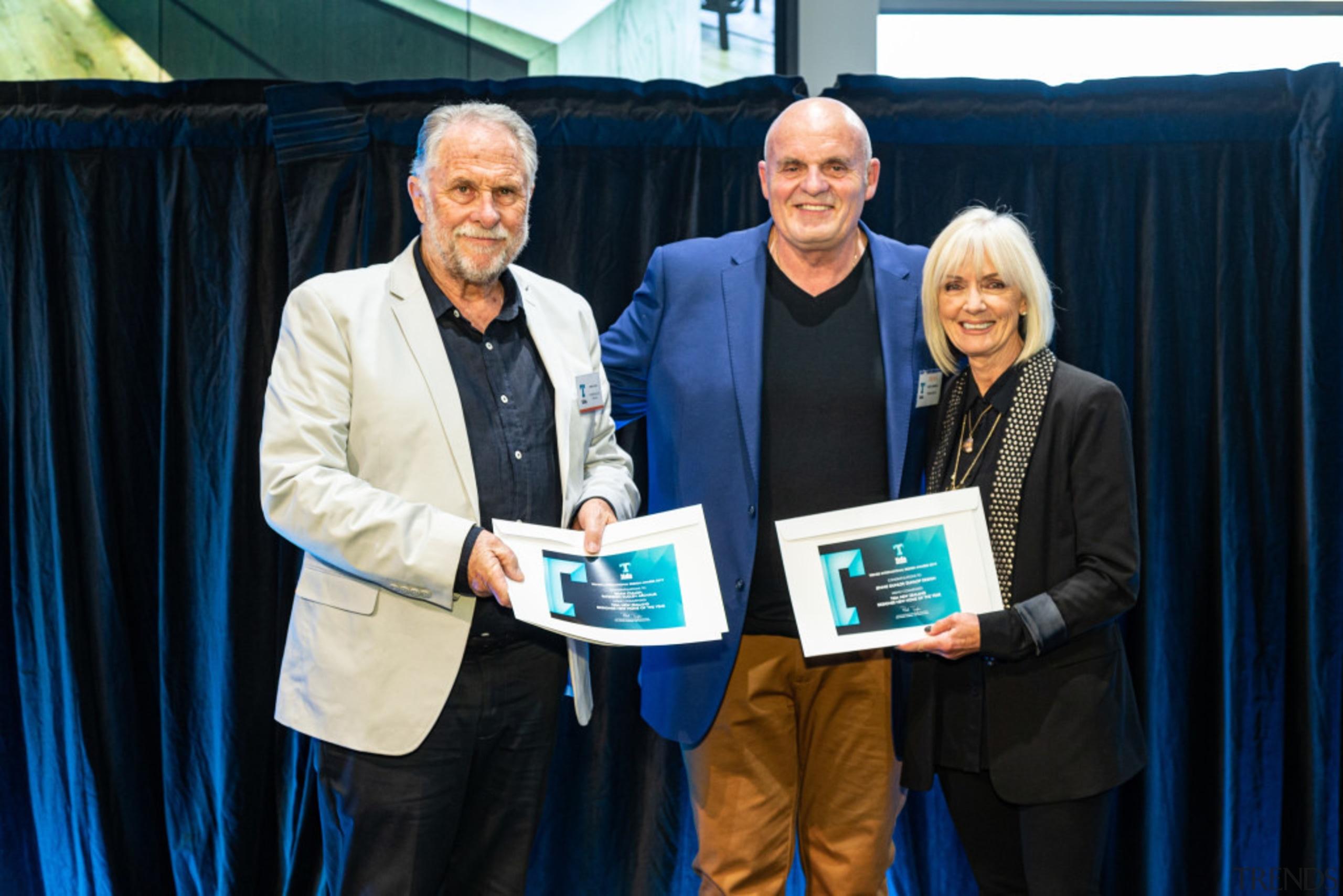 2019 TIDA New Zealand Homes presentation evening award, award ceremony, community, employment, event, job, black, blue