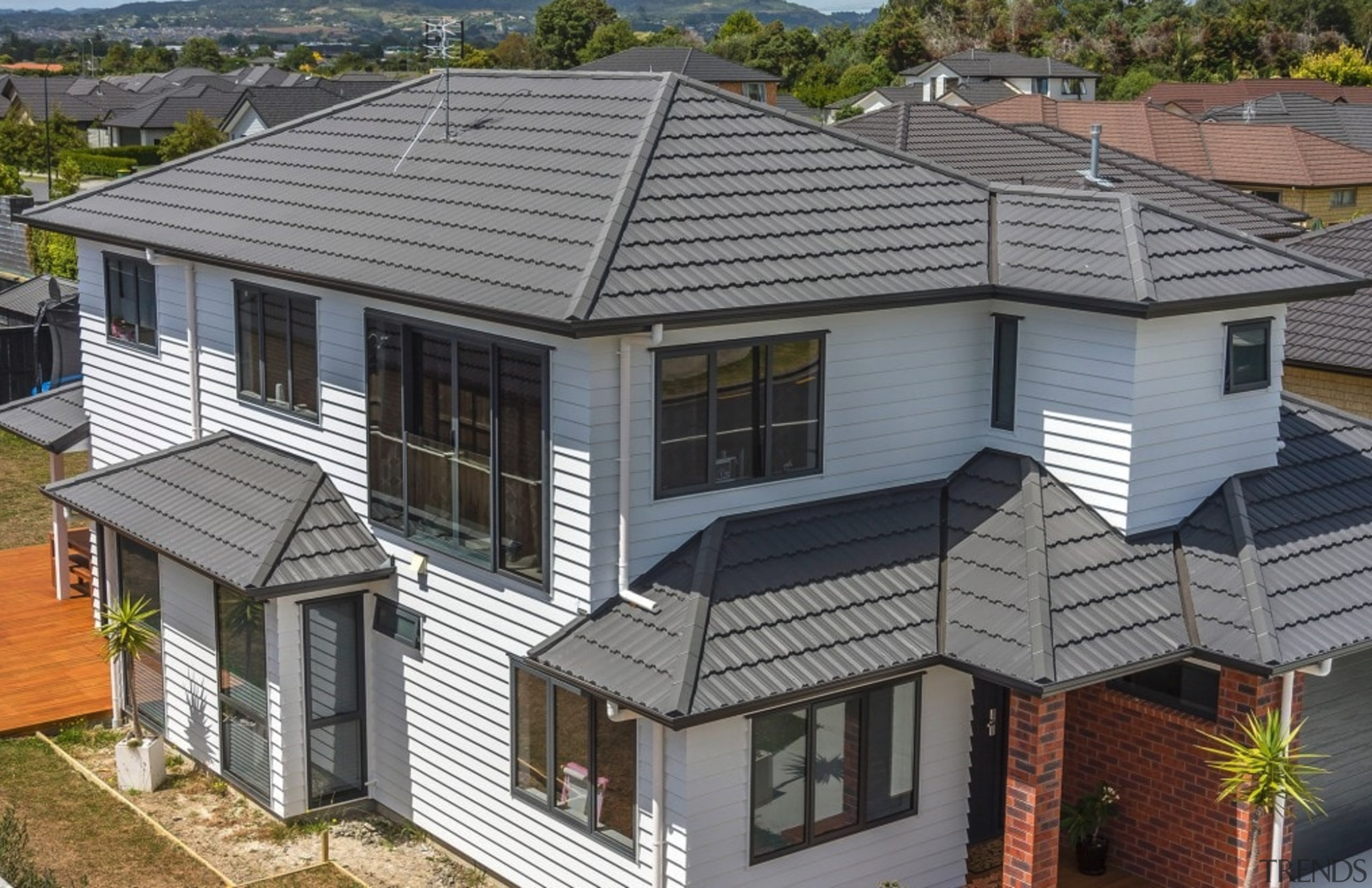 Classic - elevation | facade | home | elevation, facade, home, house, property, real estate, residential area, roof, siding, window, gray