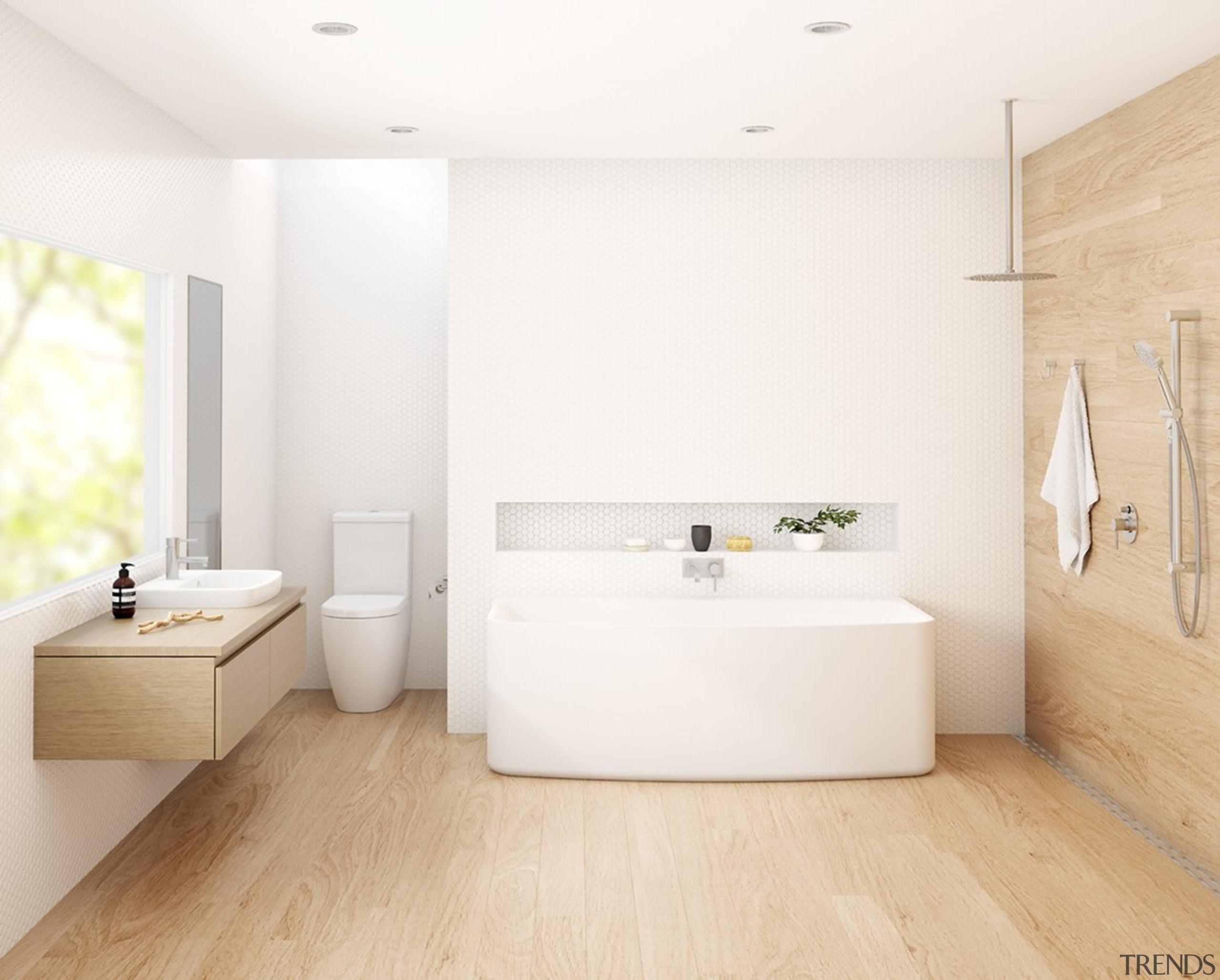 Caroma Urbane - Caroma Urbane - architecture | architecture, bathroom, bathroom sink, floor, flooring, interior design, laminate flooring, plumbing fixture, room, sink, tap, tile, wall, wood flooring, white