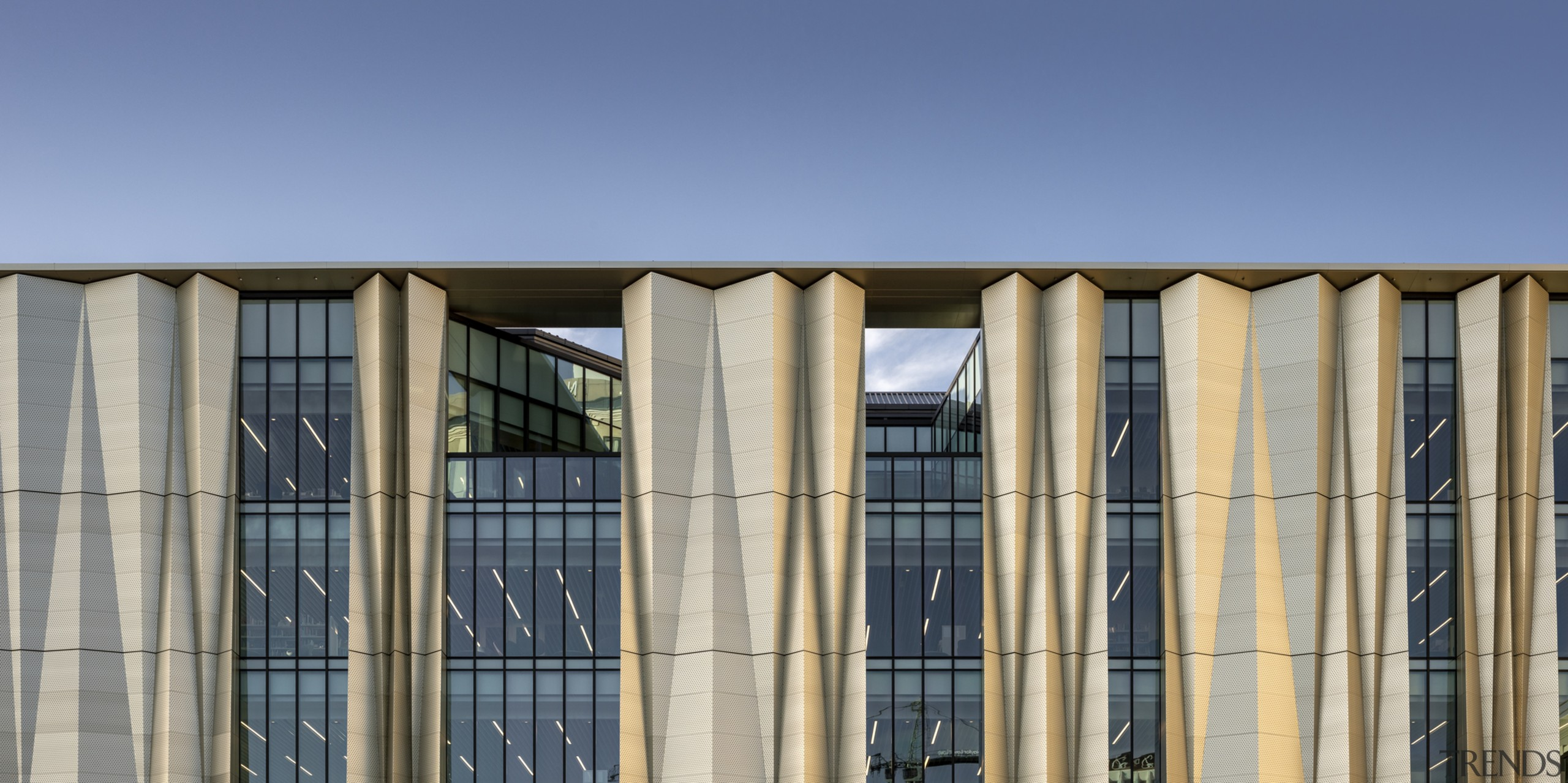 Christchurch Central Library – cultural cladding architecture, building, column, commercial building, corporate headquarters, daytime, facade, structure, window, gray