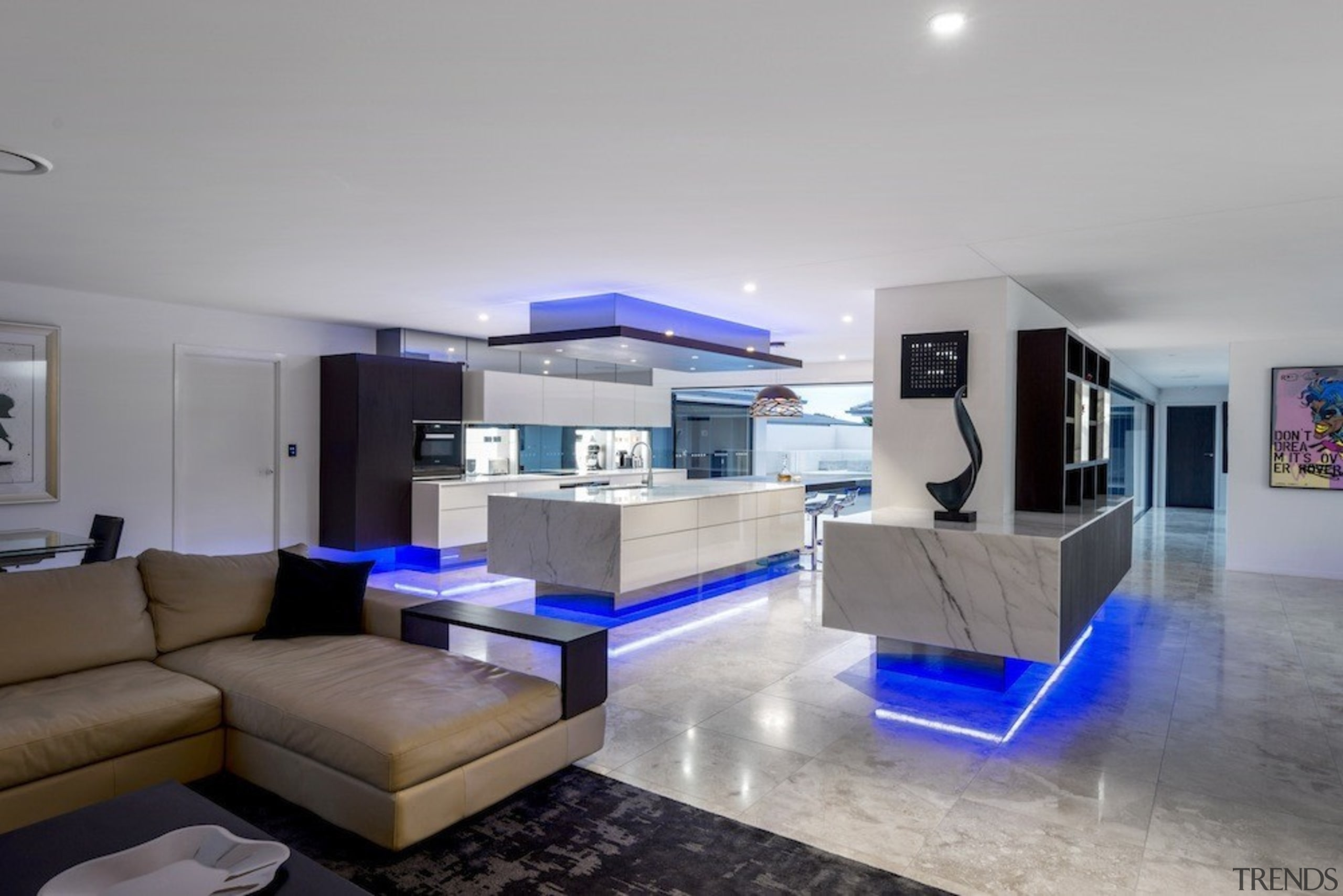 A focus on lighting – Kitchen by designer architecture, ceiling, house, interior design, living room, property, real estate, gray