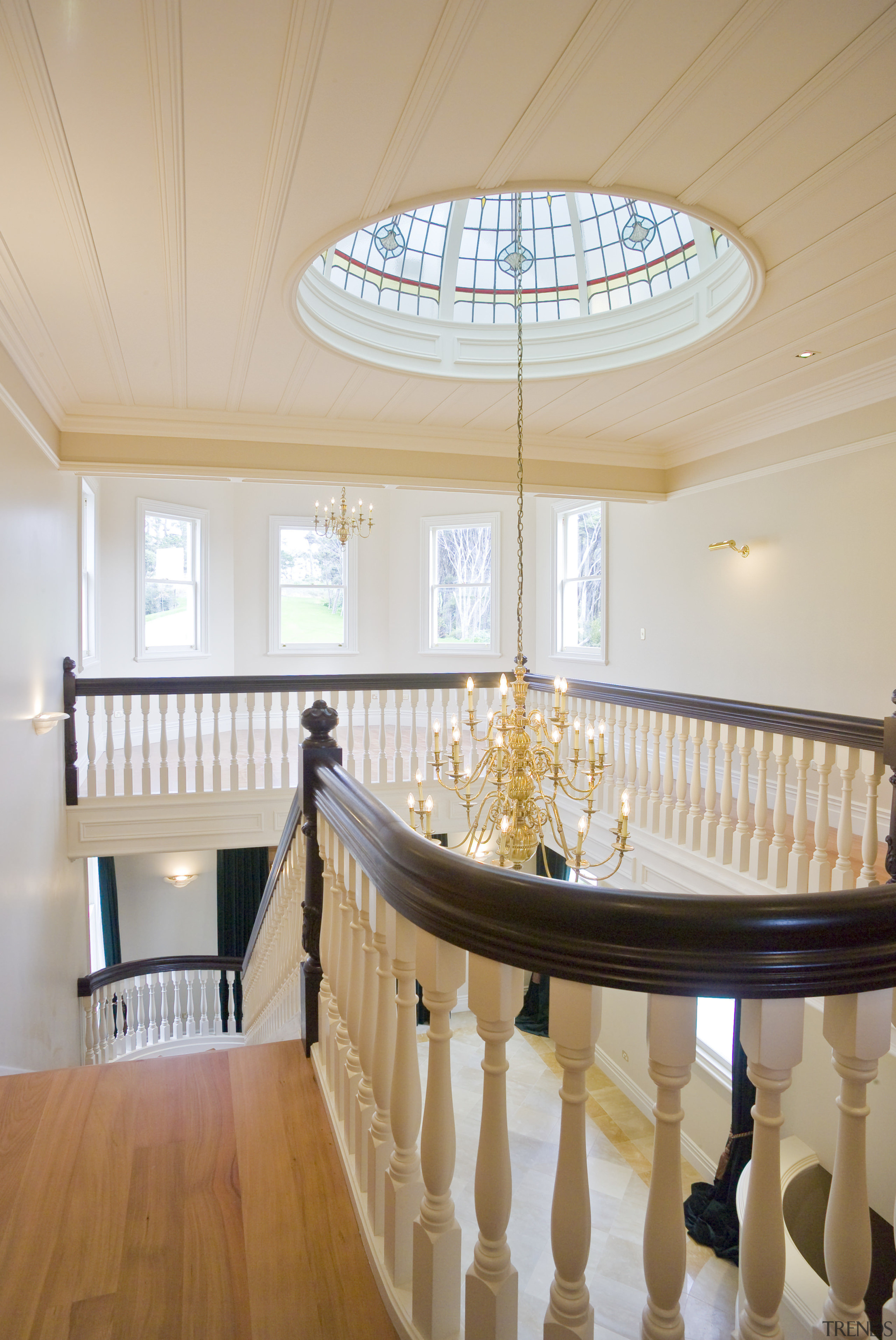 The architect and builder were able to source architecture, ceiling, daylighting, estate, floor, flooring, home, interior design, lobby, property, real estate, table, gray, orange