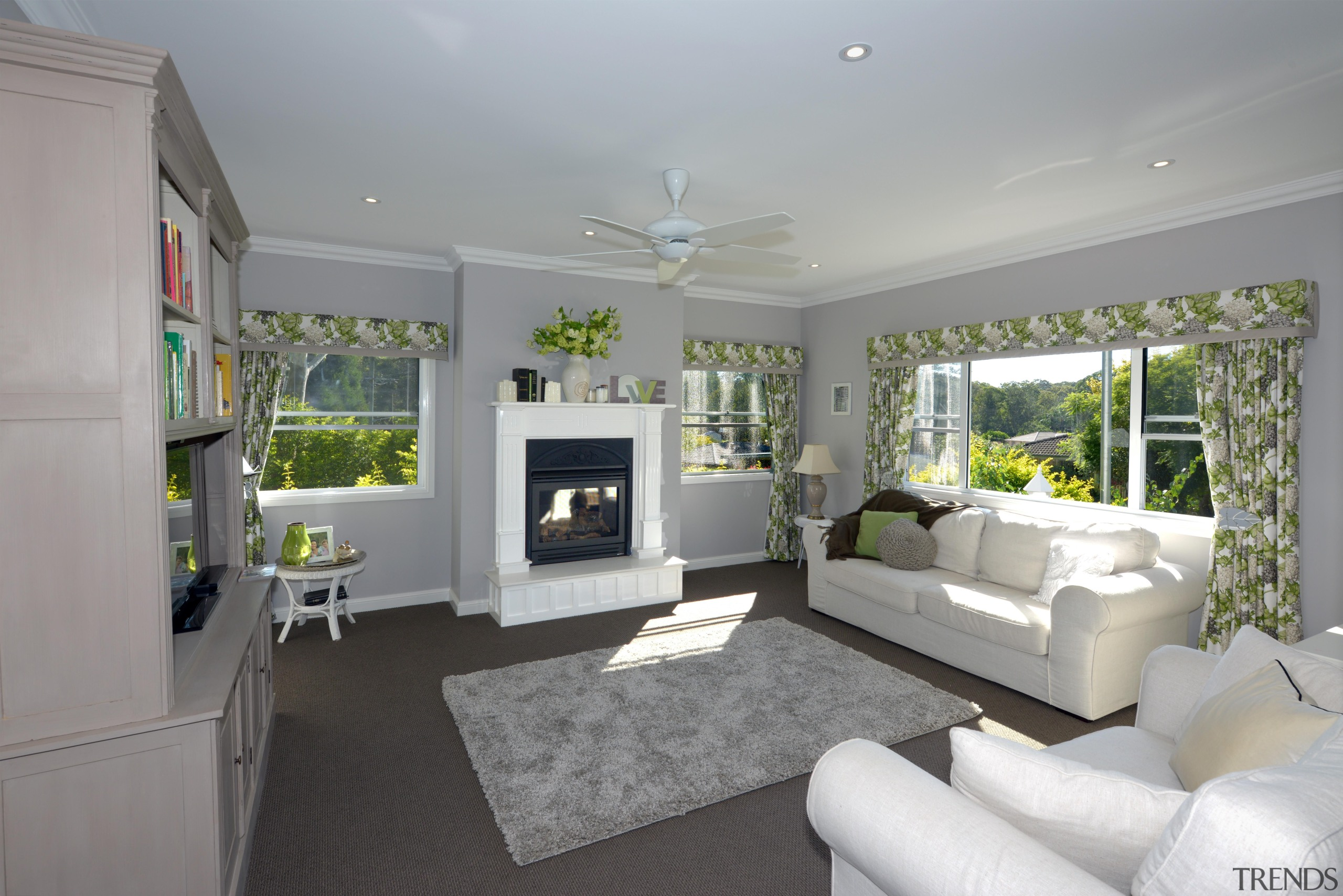 At Manor we believe in harmony - harmony ceiling, home, house, interior design, living room, property, real estate, room, window, gray