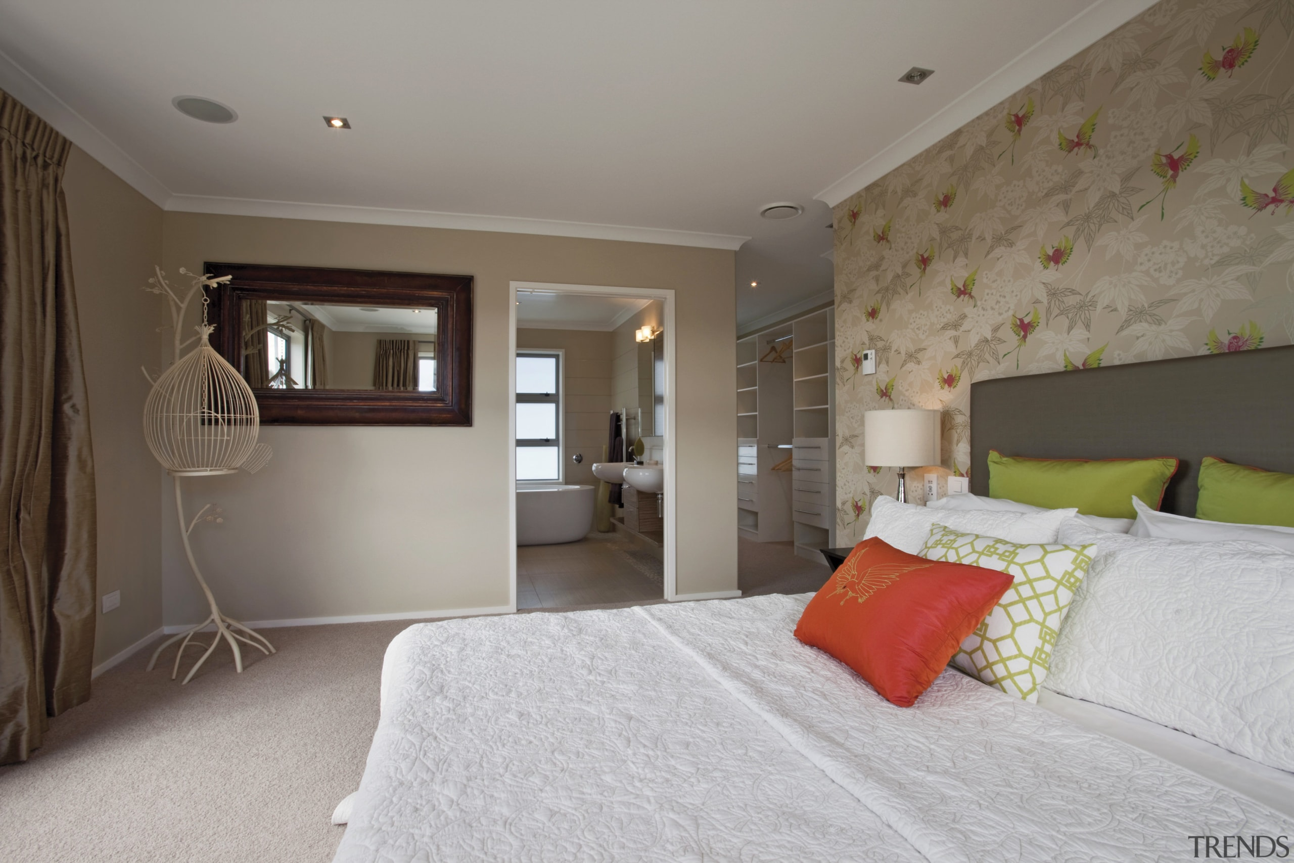GJ Gardner Homes Lakes show home - GJ bedroom, ceiling, floor, home, interior design, property, real estate, room, wall, window, gray, brown