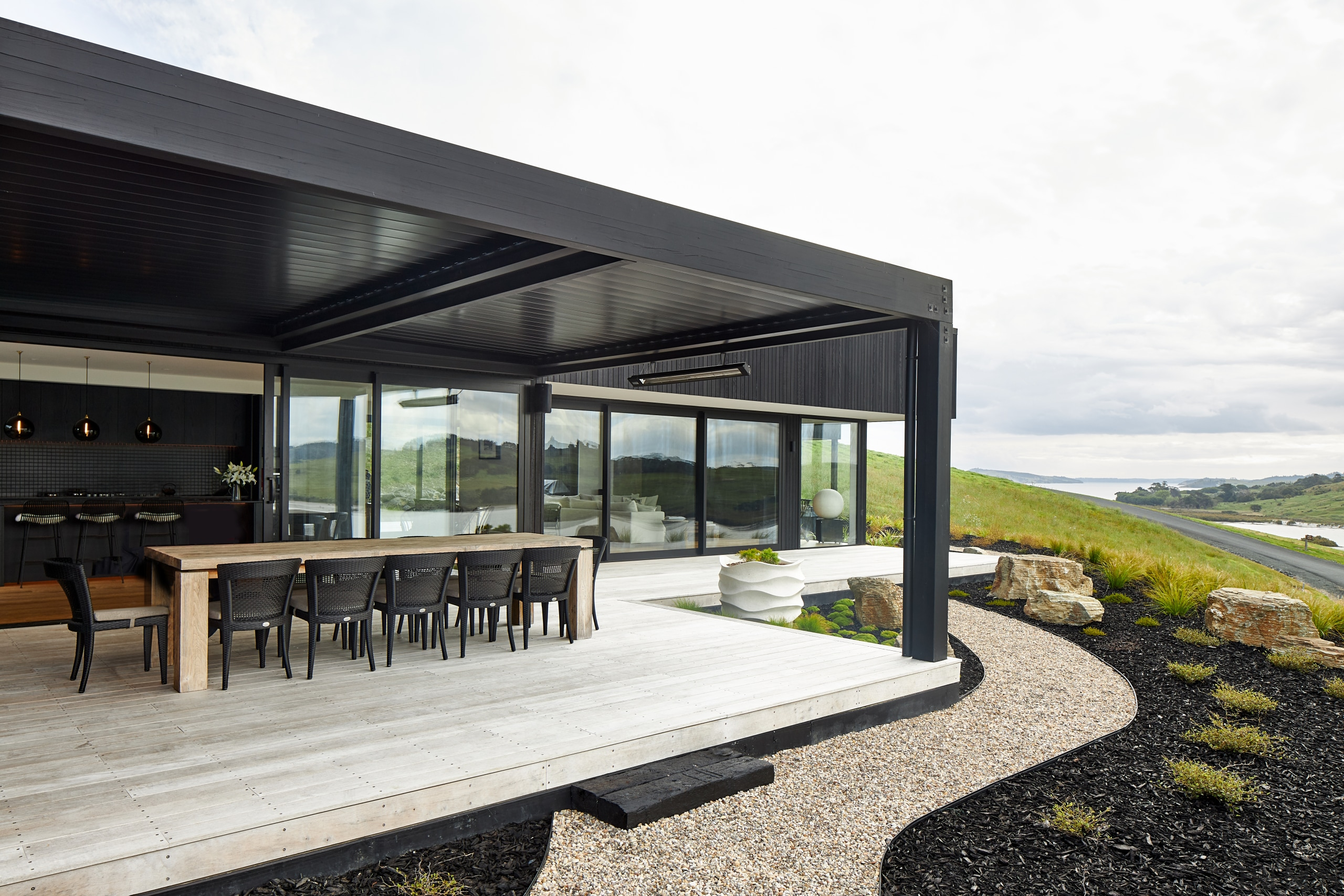 This grand holiday home sits comfortably on the