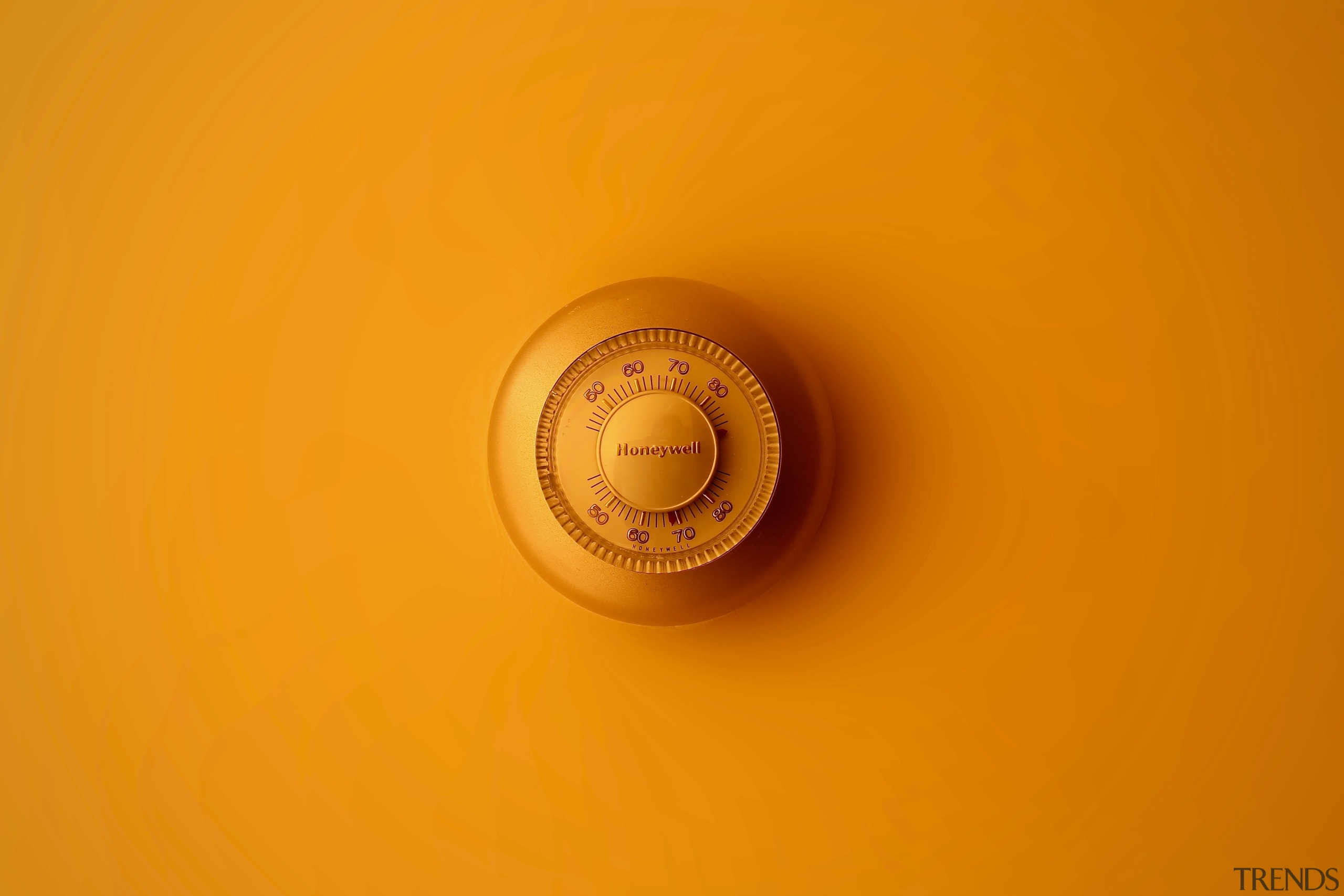 Have you considered a smart thermostat? - close close up, macro photography, yellow, orange