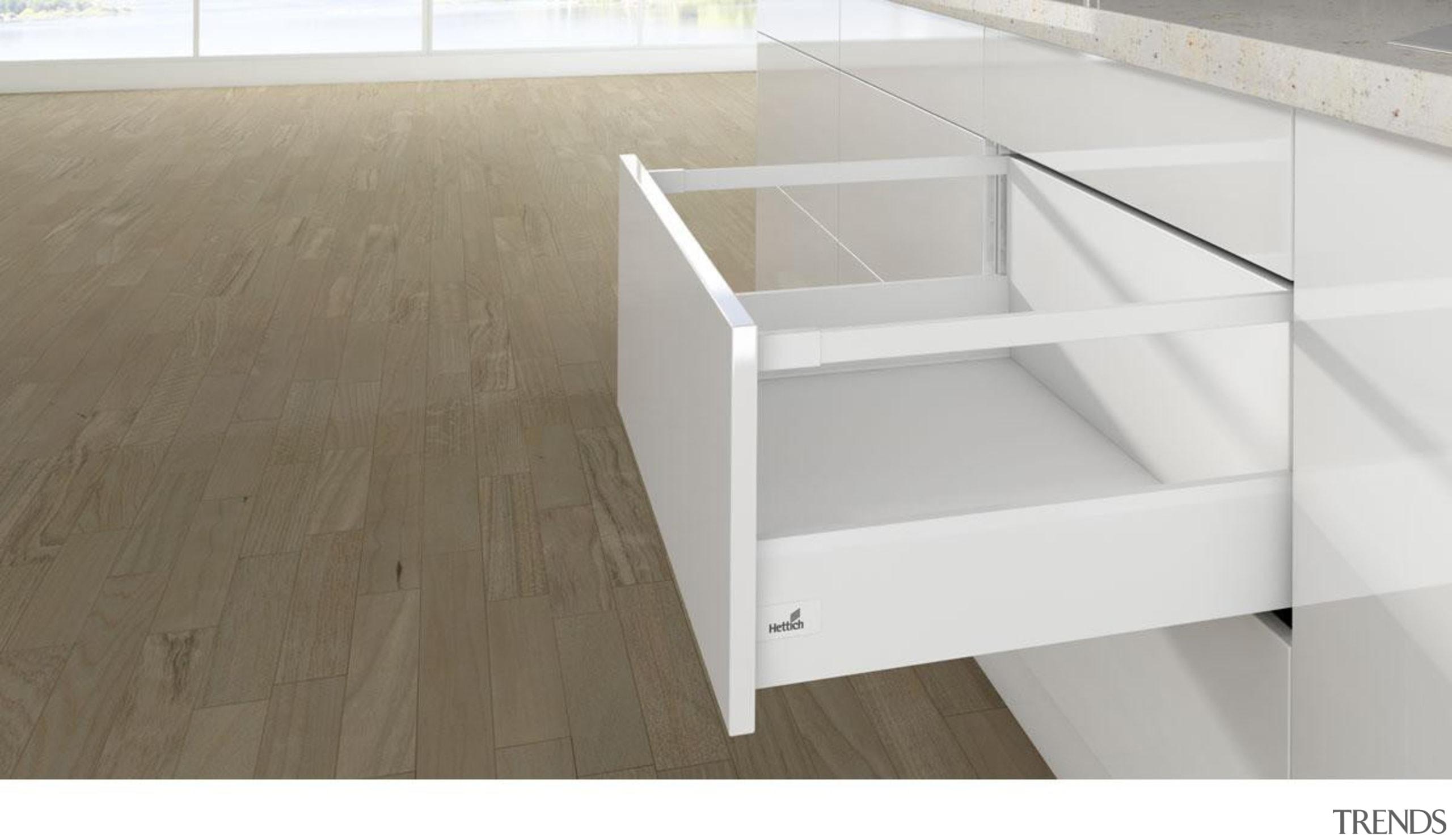 Lengthwise Railing - Rectangular - Lengthwise Railing - drawer, floor, furniture, product, product design, table, white