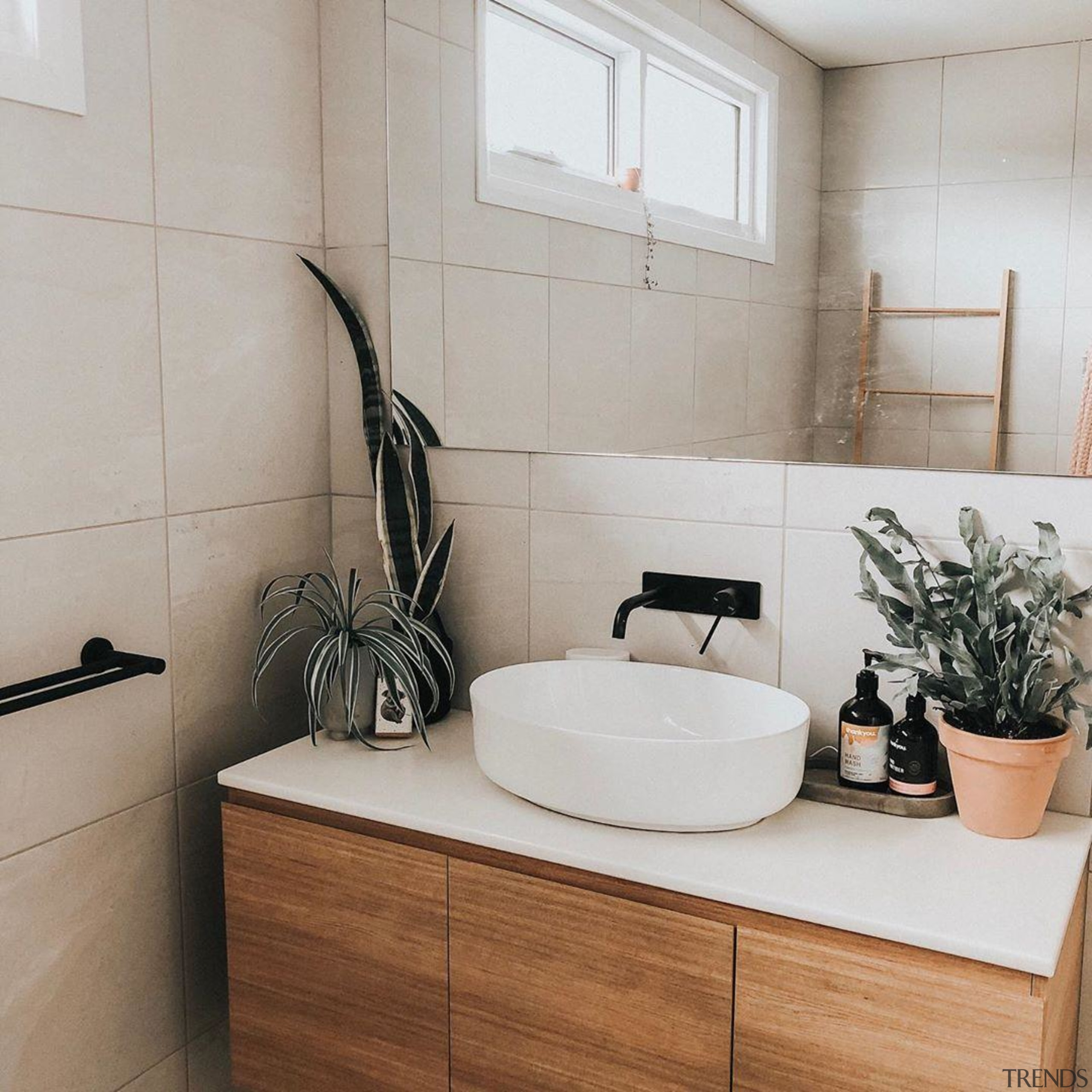 Something every bathroom needs, a touch of nature.