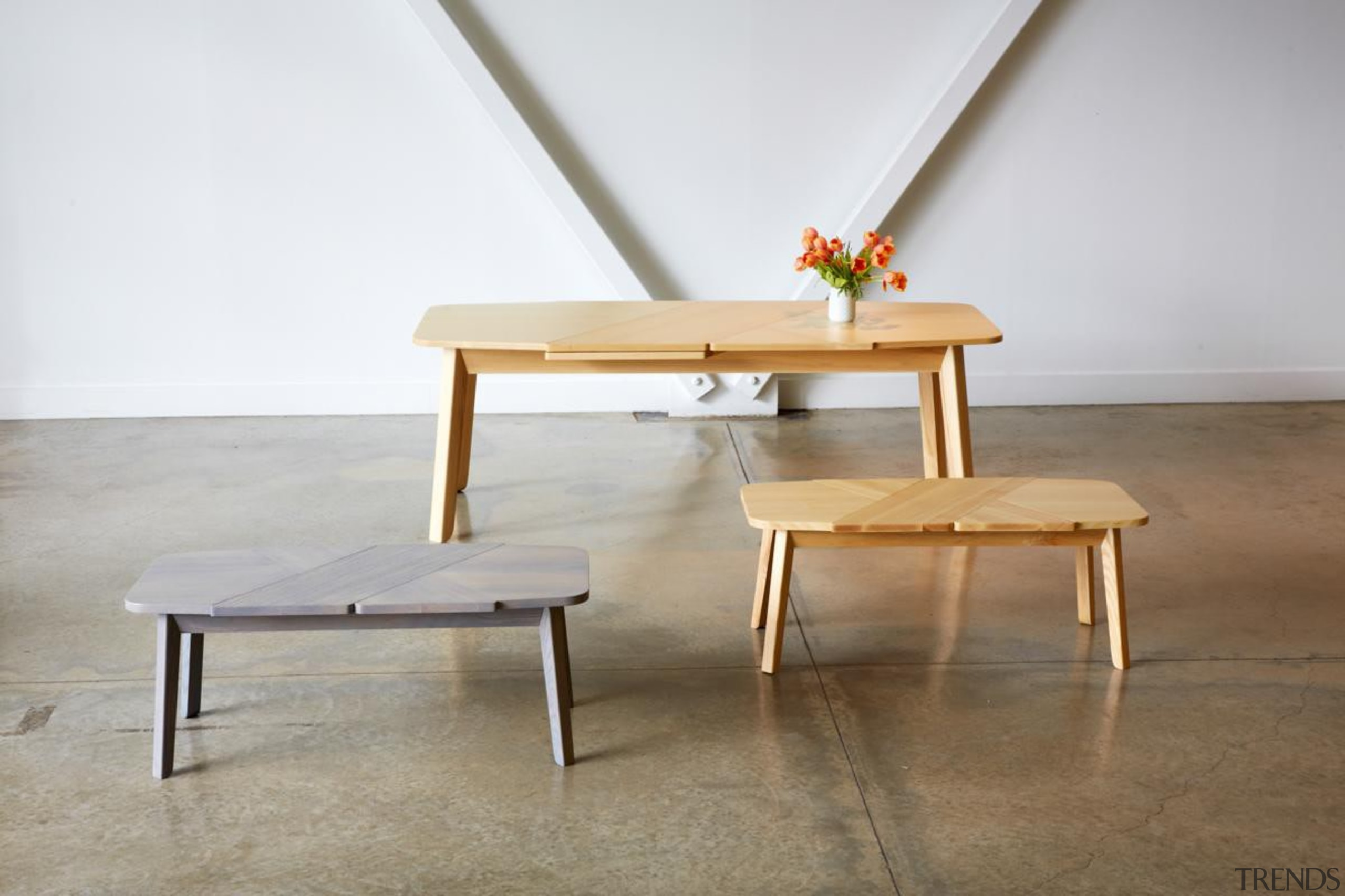 It's a wrap! Or rather, it's a Wrap chair, coffee table, floor, furniture, plywood, table, wood, white, gray