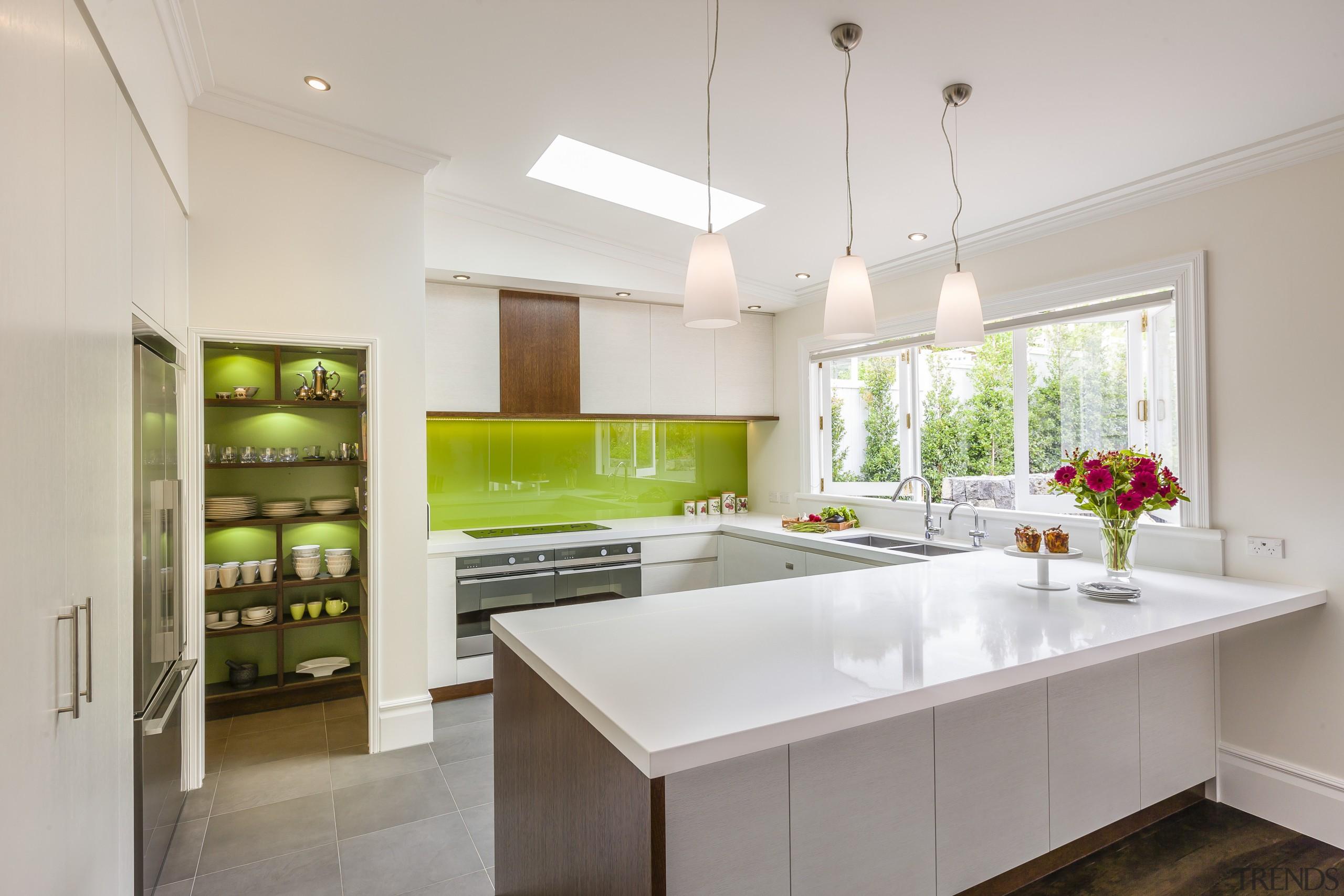 Contemporary kitchen appliances - Contemporary kitchen appliances - architecture, countertop, cuisine classique, interior design, kitchen, real estate, room, gray