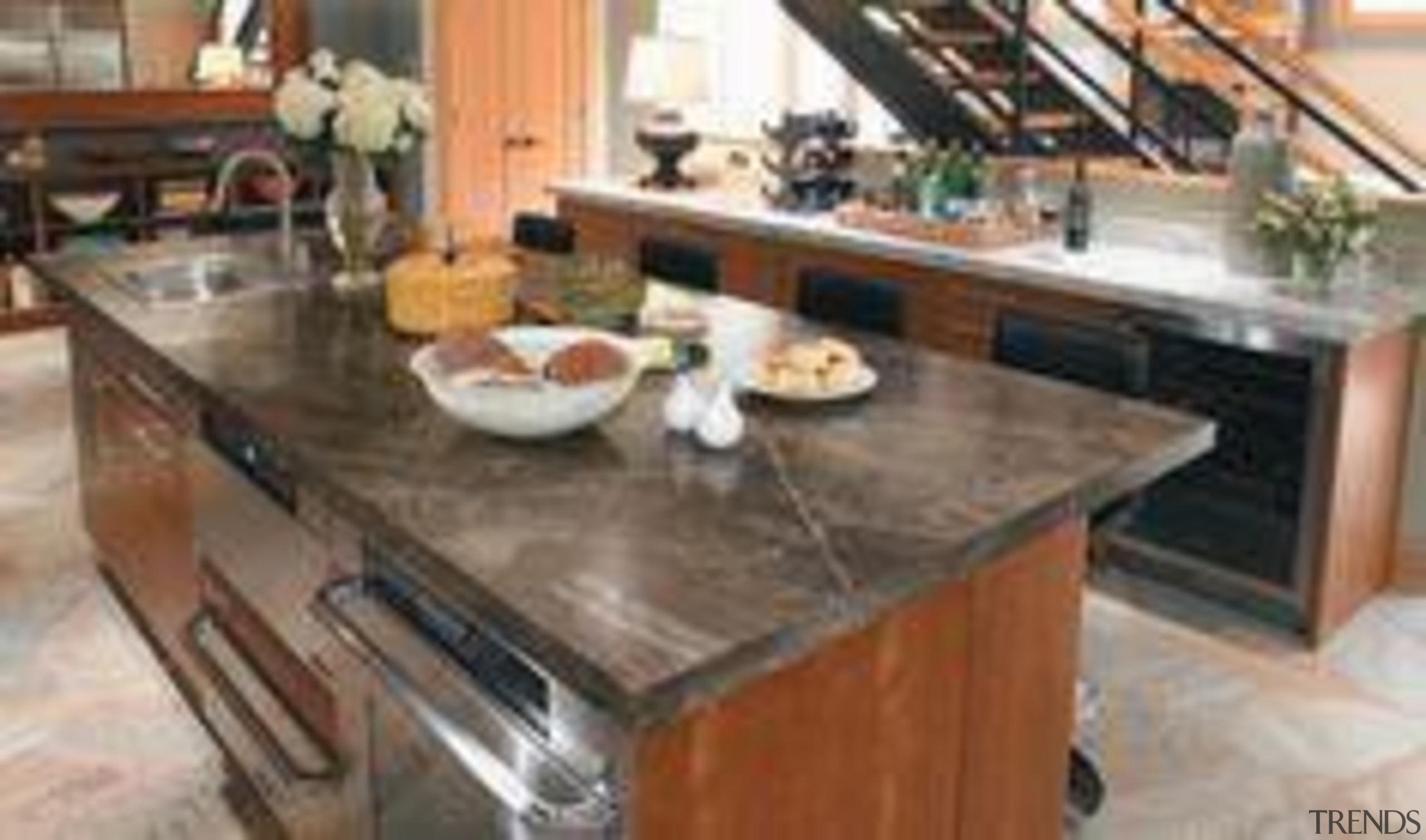My Dream Kitchen : Inspiration Gallery : Classic countertop, floor, flooring, furniture, granite, hardwood, kitchen, table, wood flooring, wood stain, brown, gray