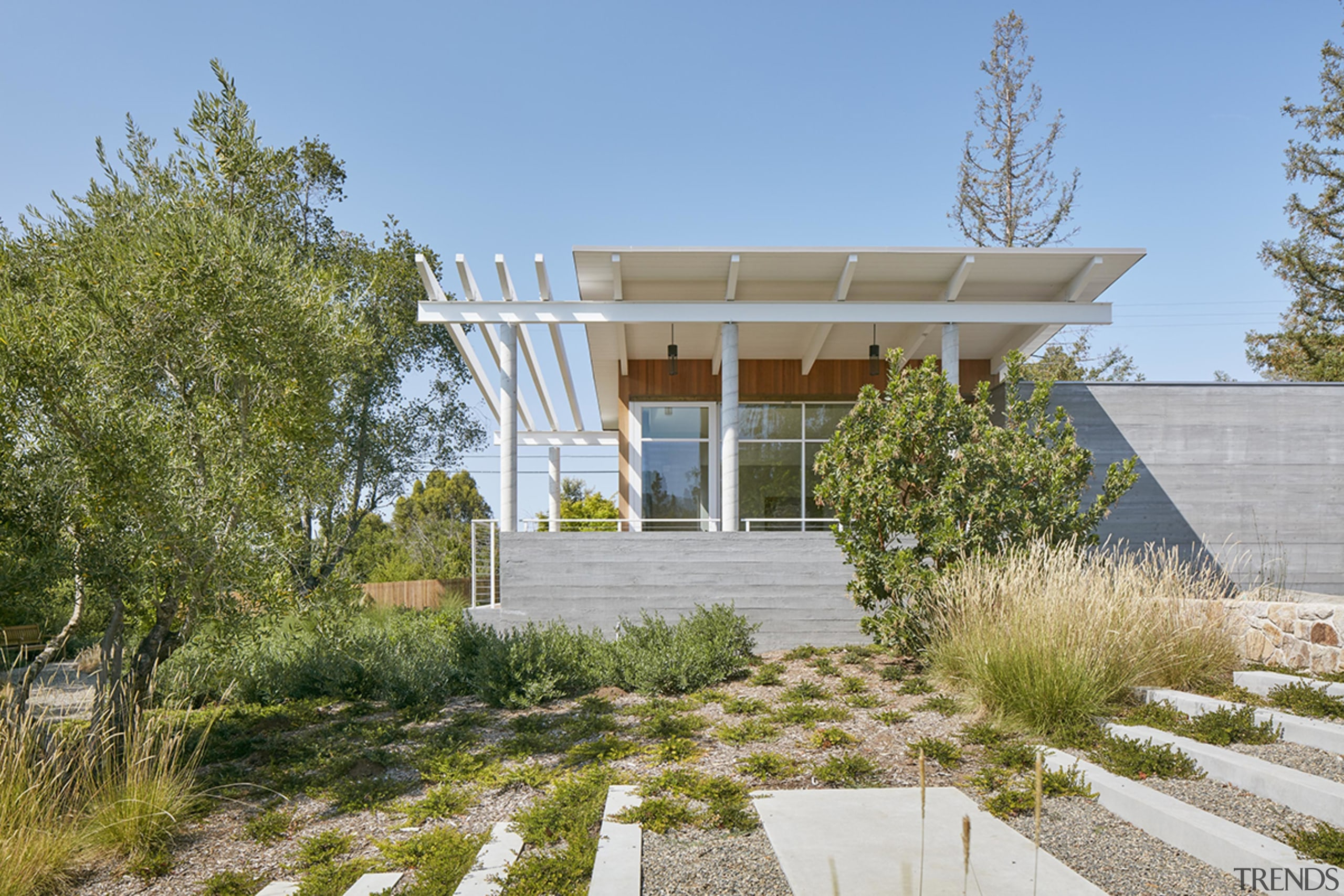 Native landscaping by Ground Studio Landscape Architecture gives